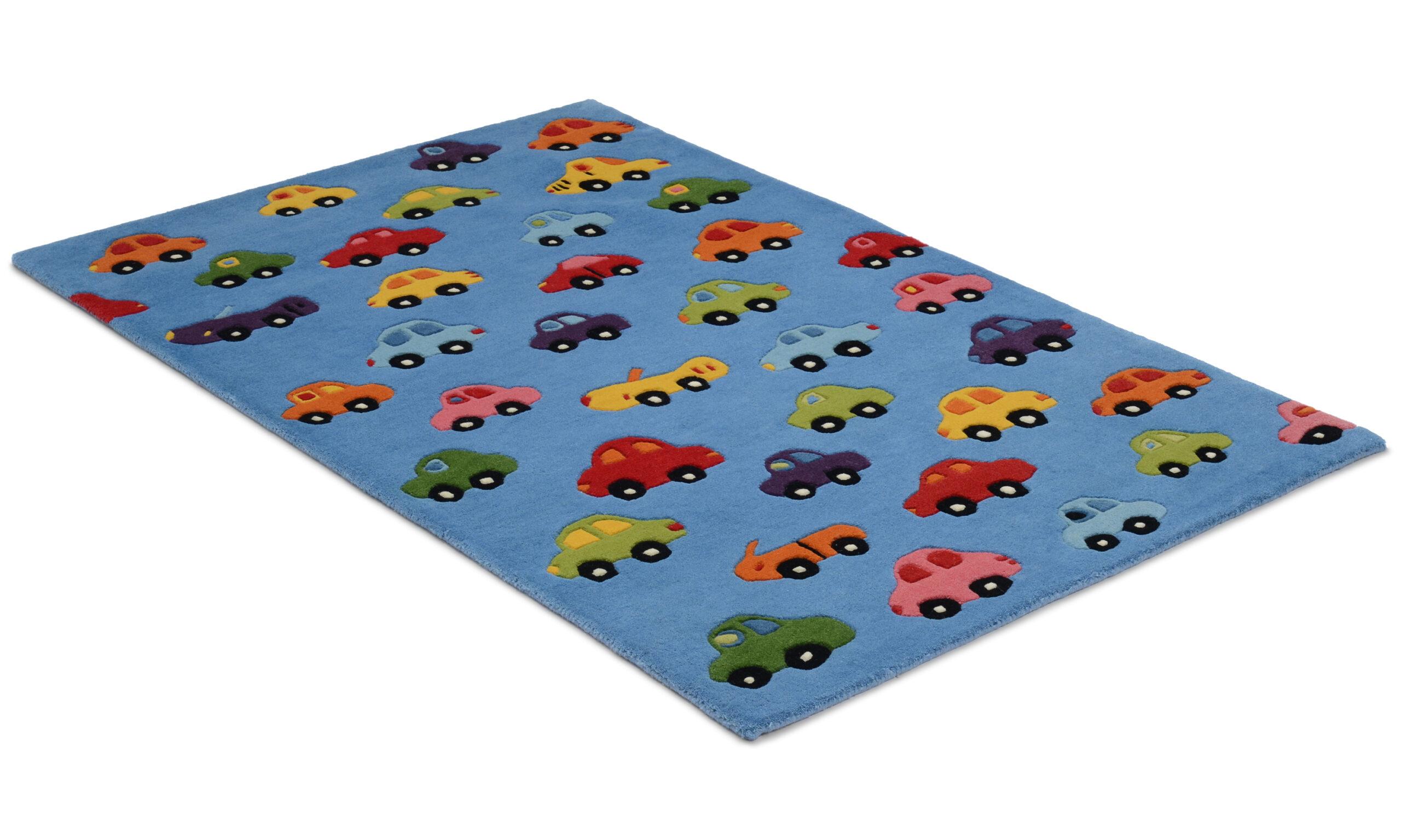 Cars blå - barneteppe