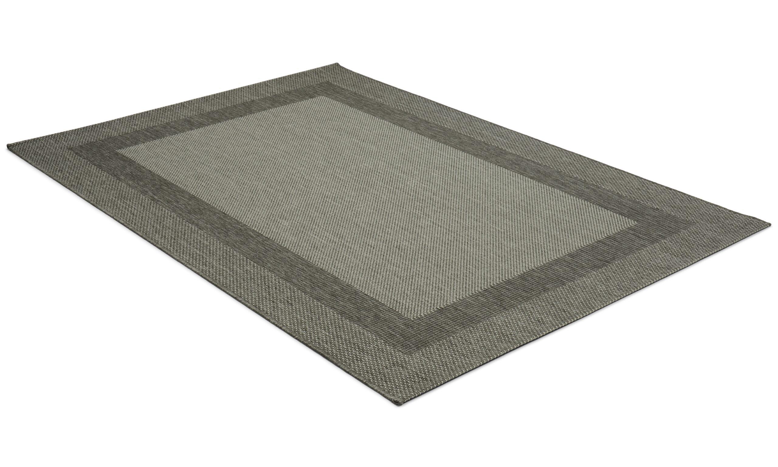 Adria grå - flatvevd teppe