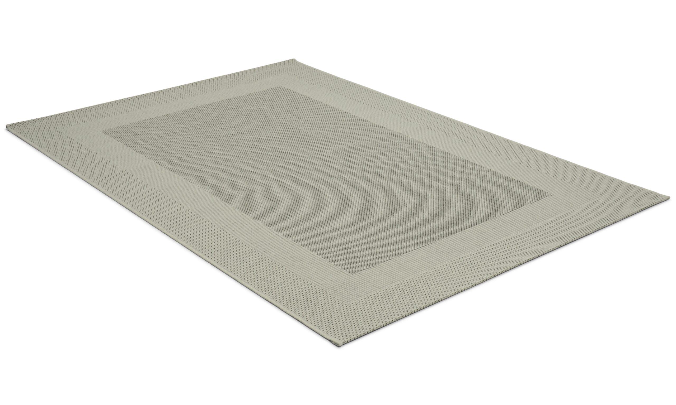 Adria lysegrå - flatvevd teppe