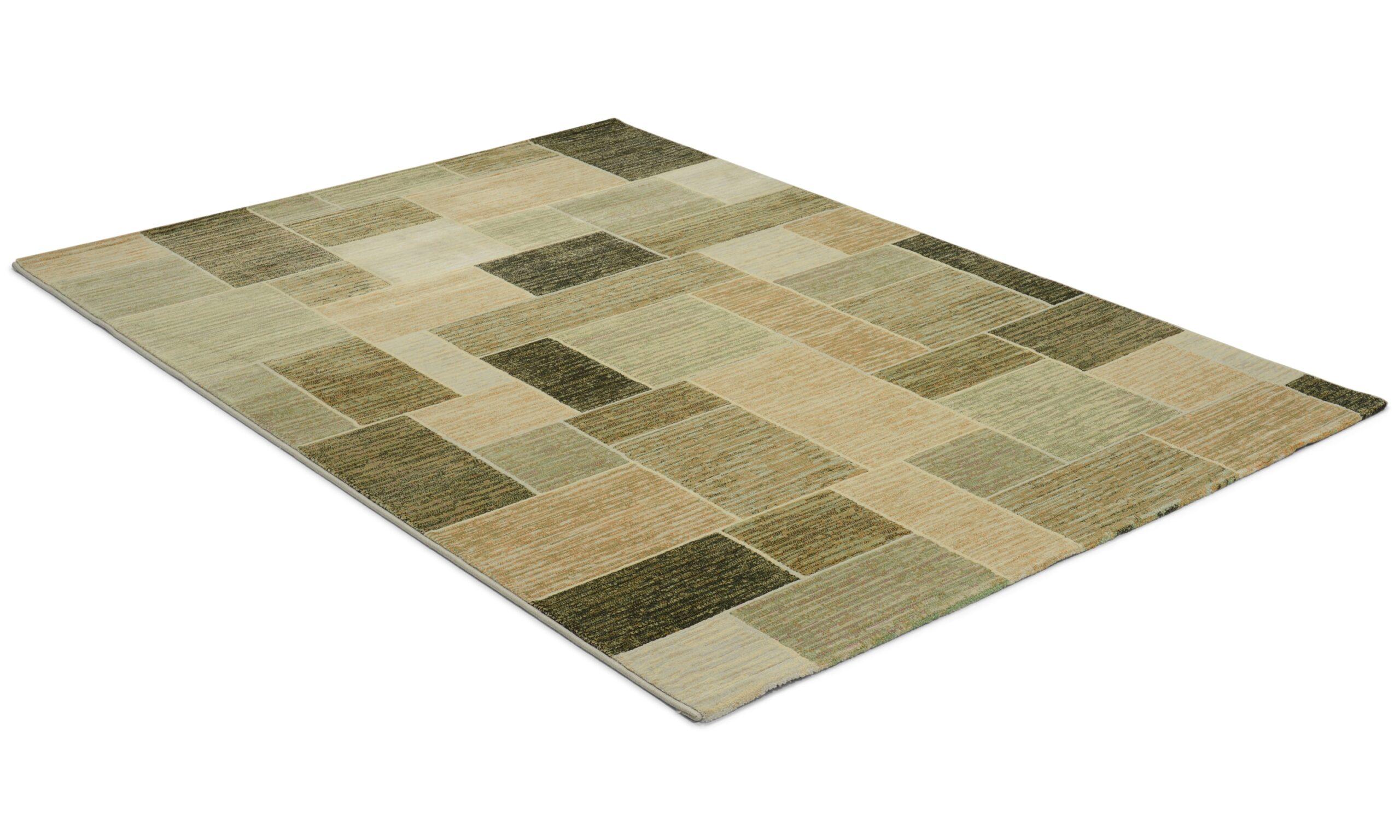 Cazzaro grønn- maskinvevd teppe