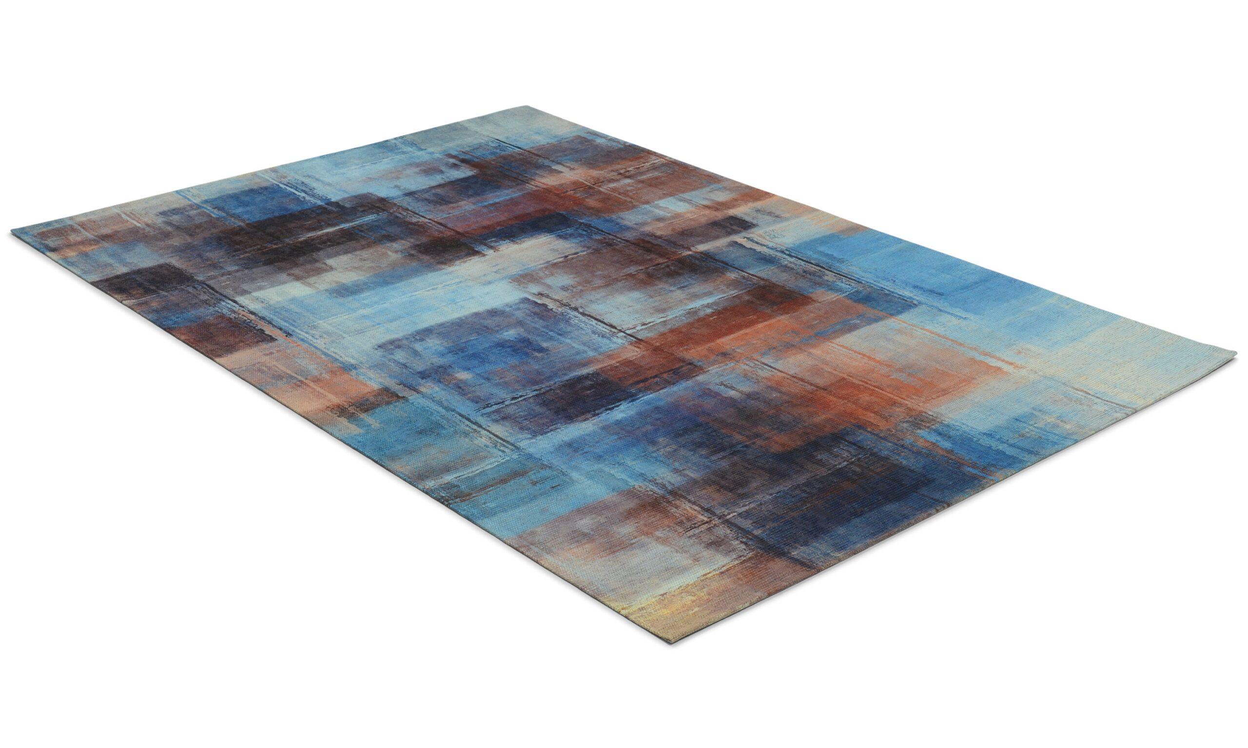 Primera art blå - flatvevd teppe