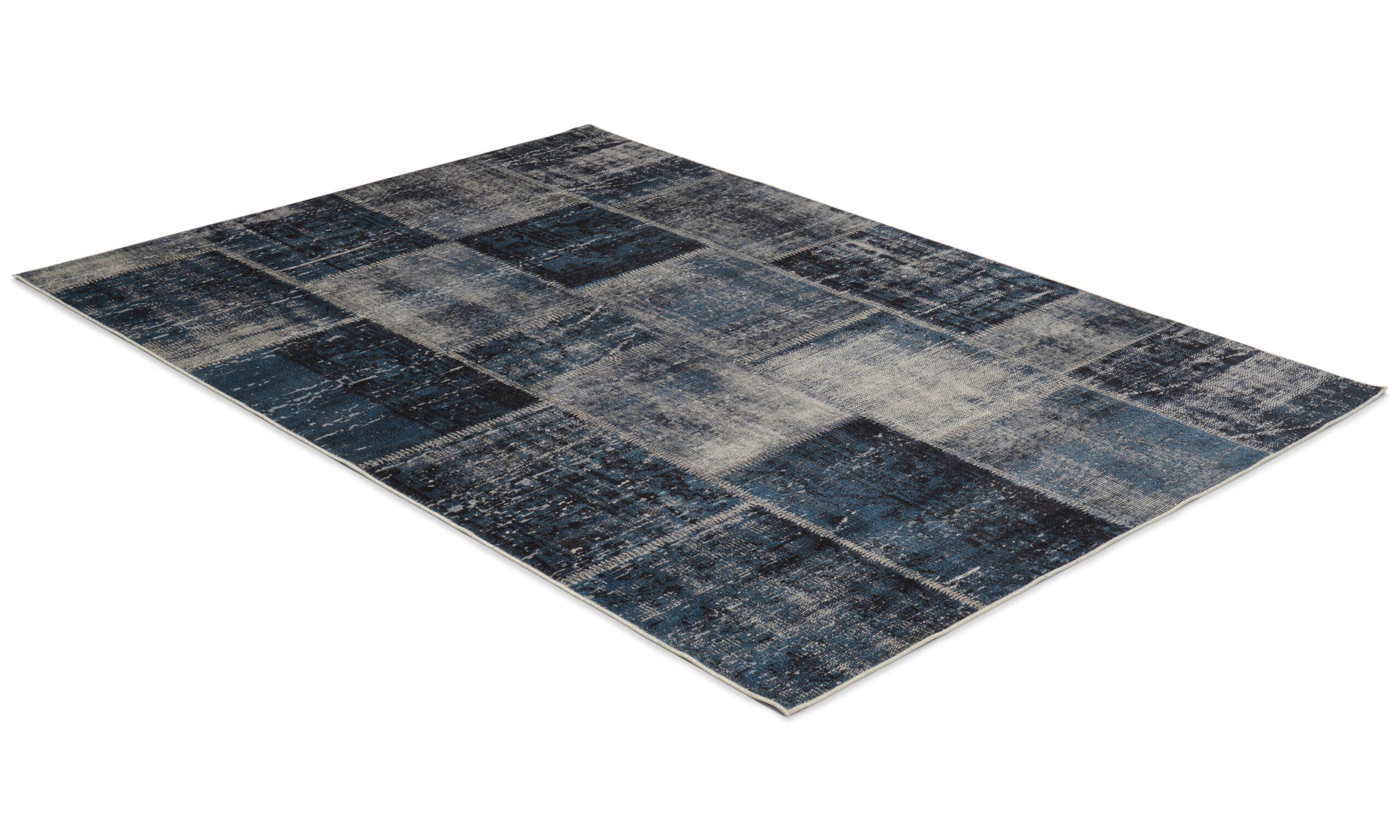 Dayton blå - maskinvevd teppe
