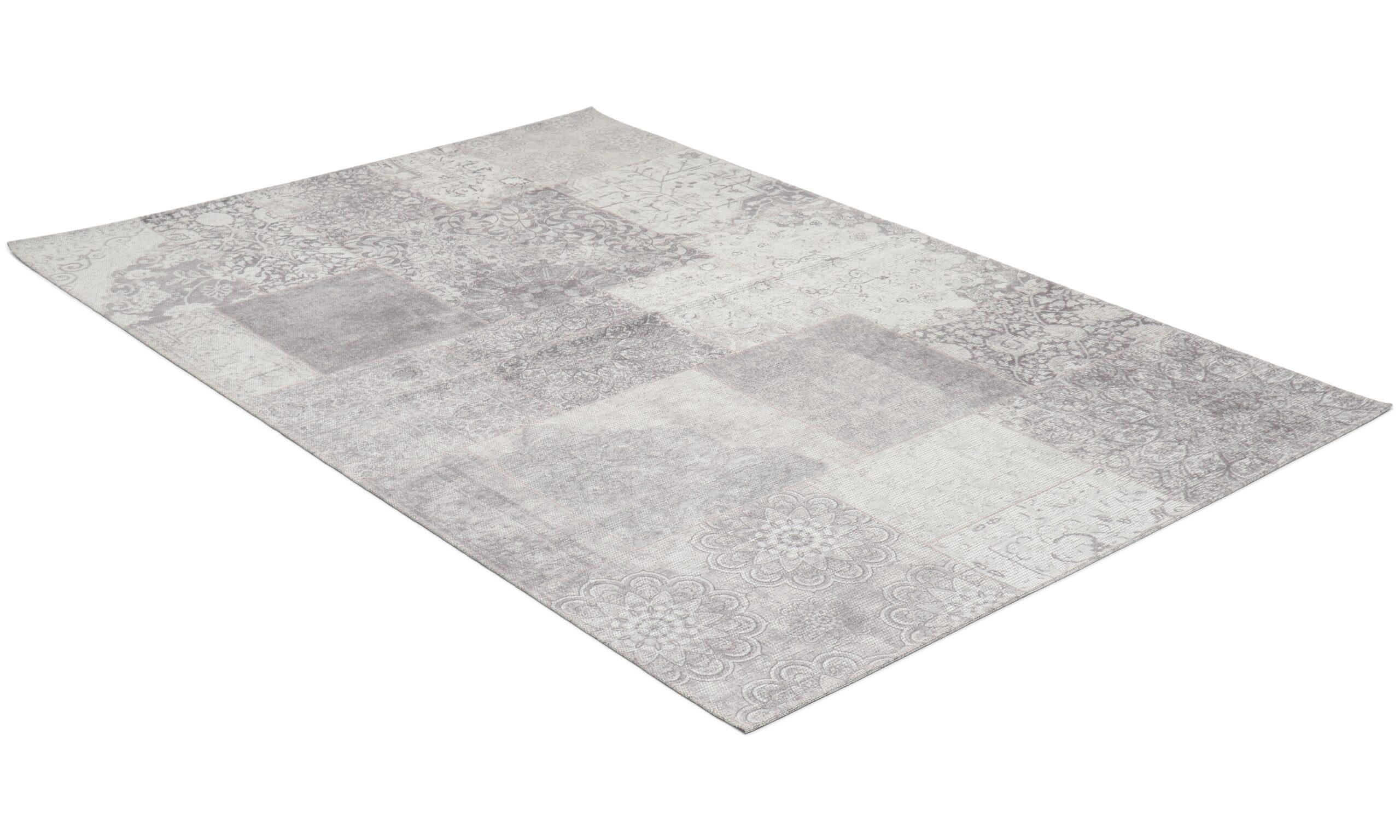 Cosmo sølv - flatvevd teppe