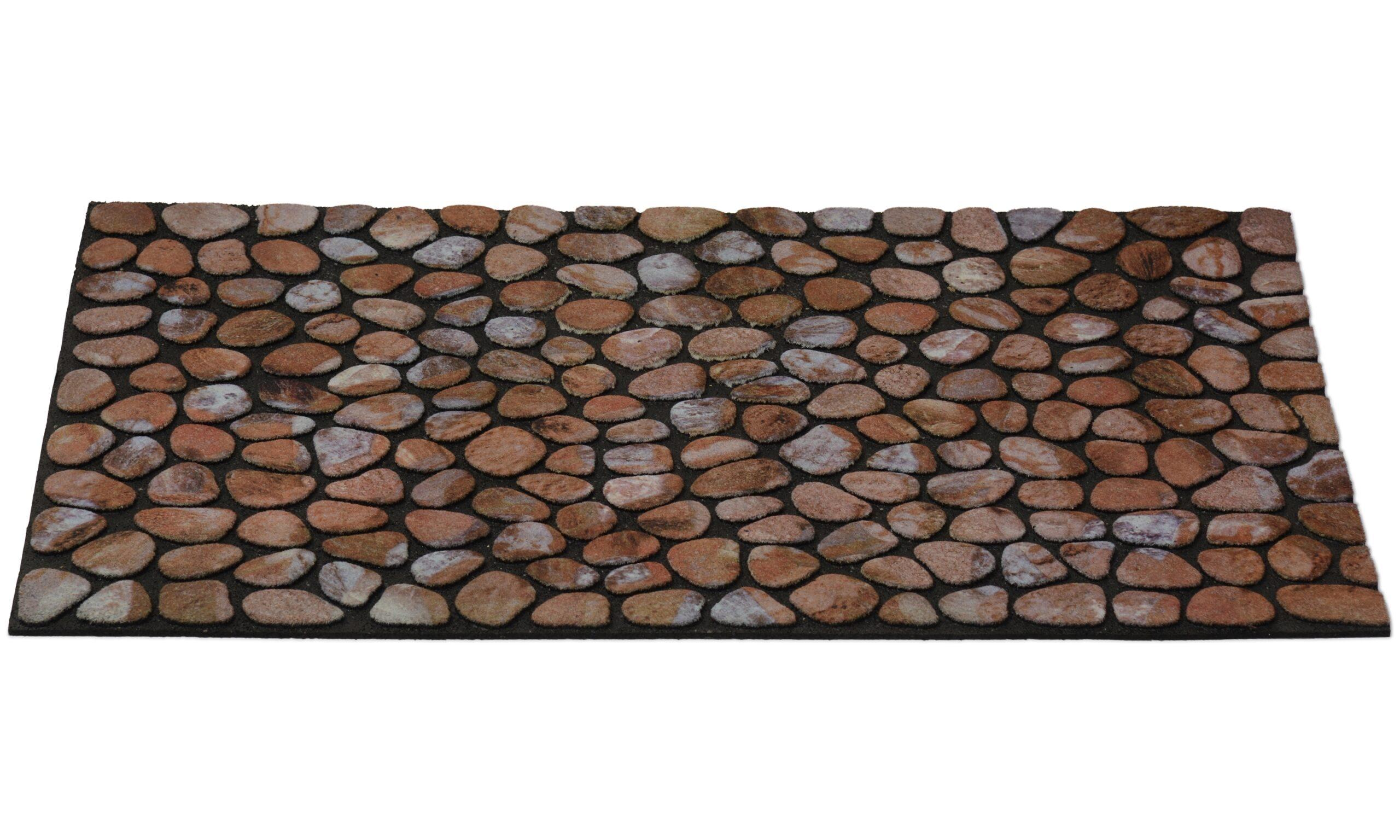 Stones natur - dørmatte