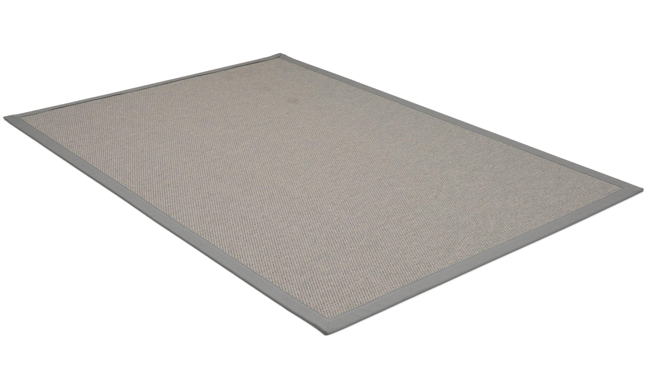 Rustik mørkegrå - flatvevd teppe
