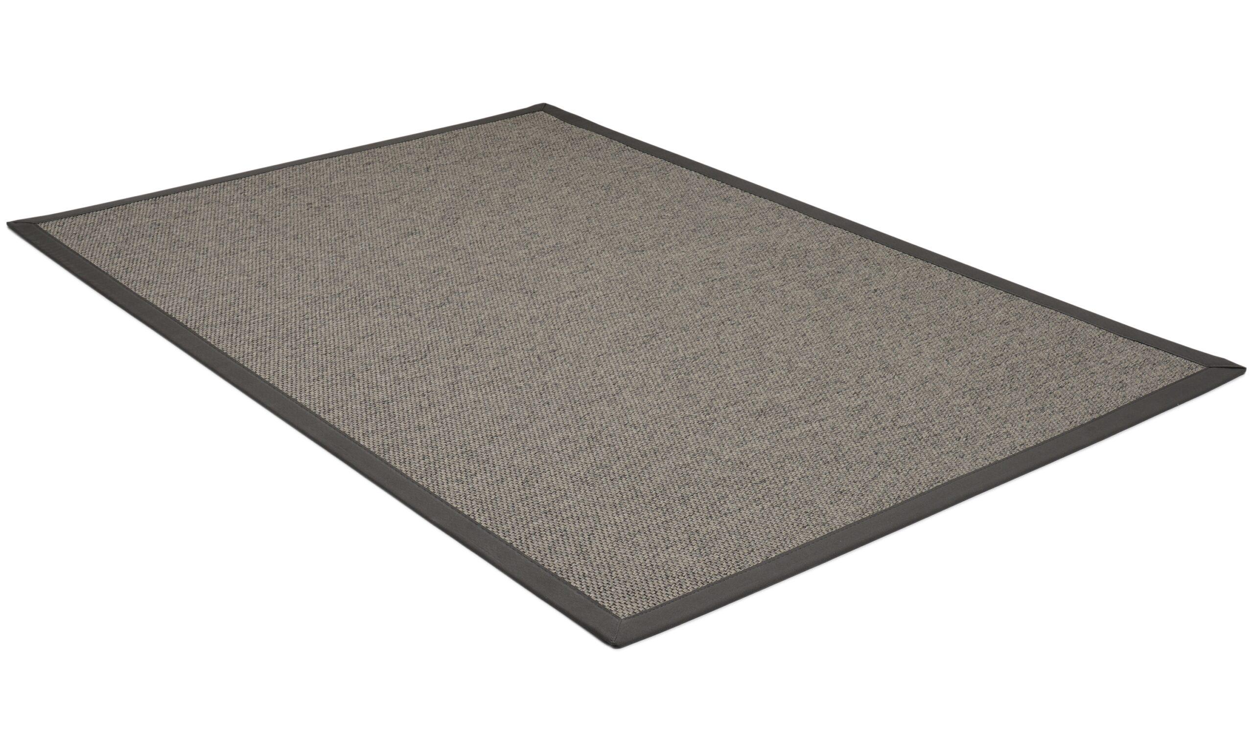 Rustik taupe/grå - flatvevd teppe