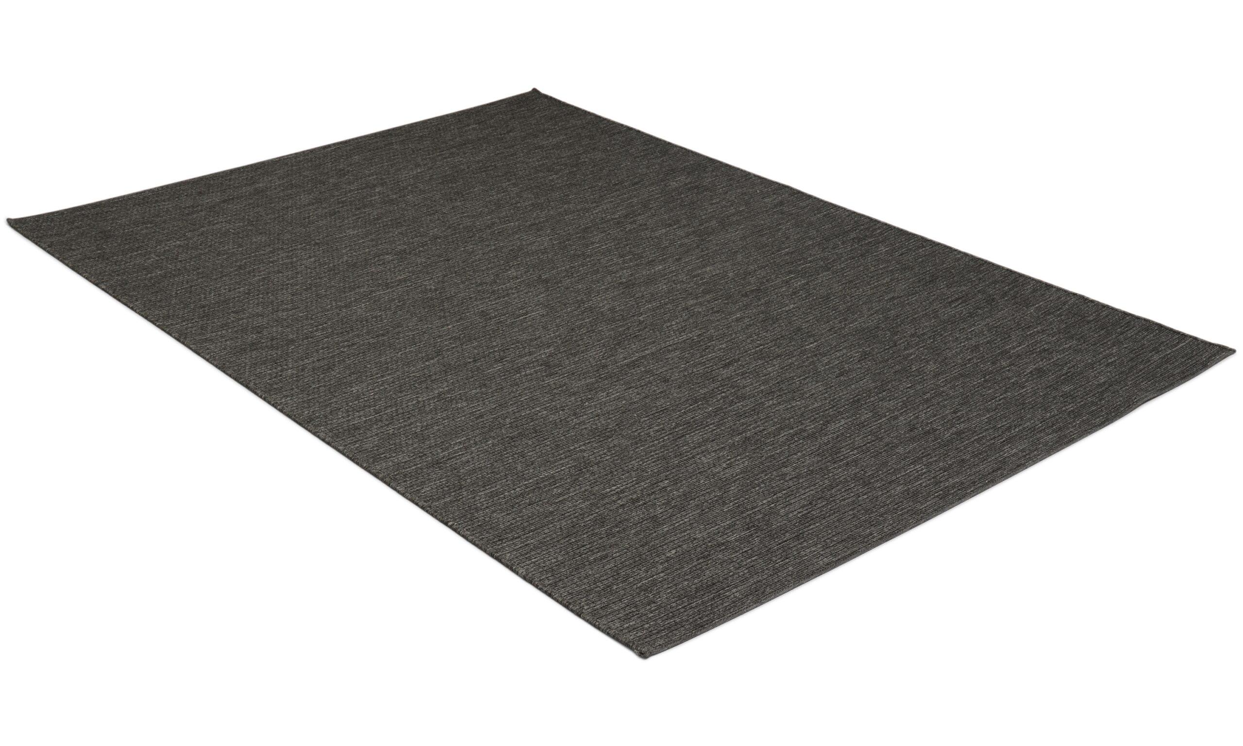 Essex svart - flatvevd teppe