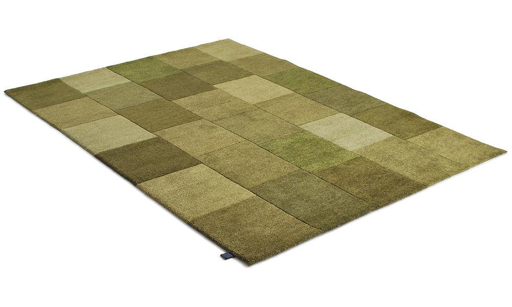 Lumbini grønn - håndknyttet teppe