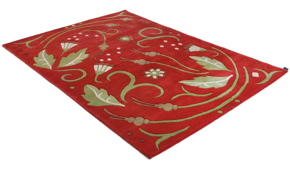 Vika rød - Håndknyttet teppe