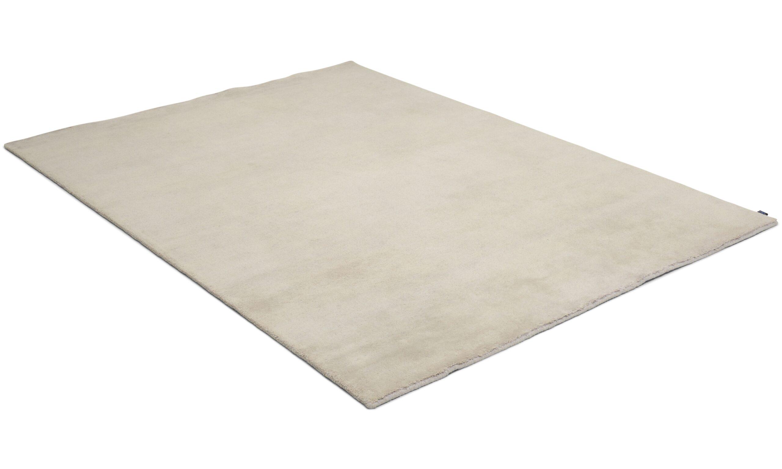 Nepali light grey - håndknyttet teppe