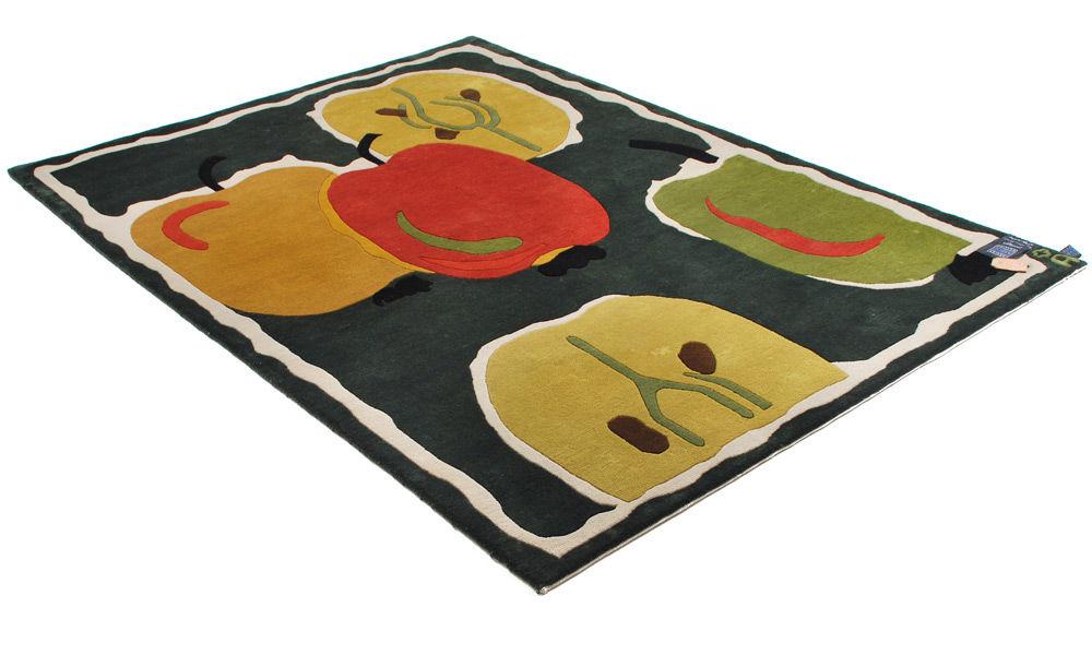 Åkerö grønn - Håndknyttet teppe