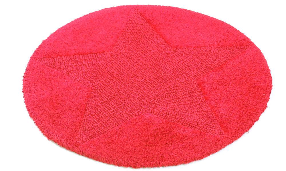 Star rød - baderomsteppe