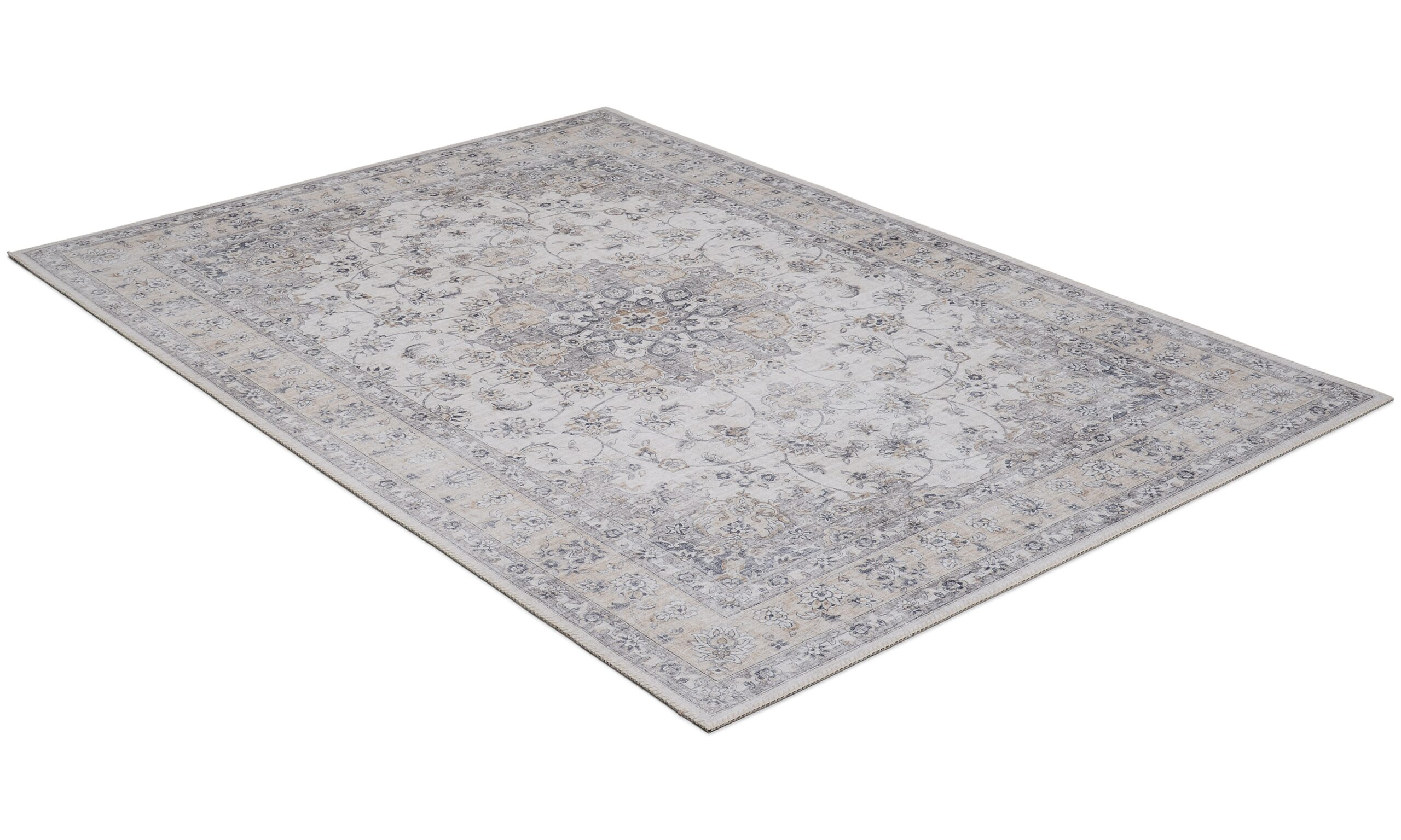 Cleo Tabriz grå/gull - maskinvevd teppe