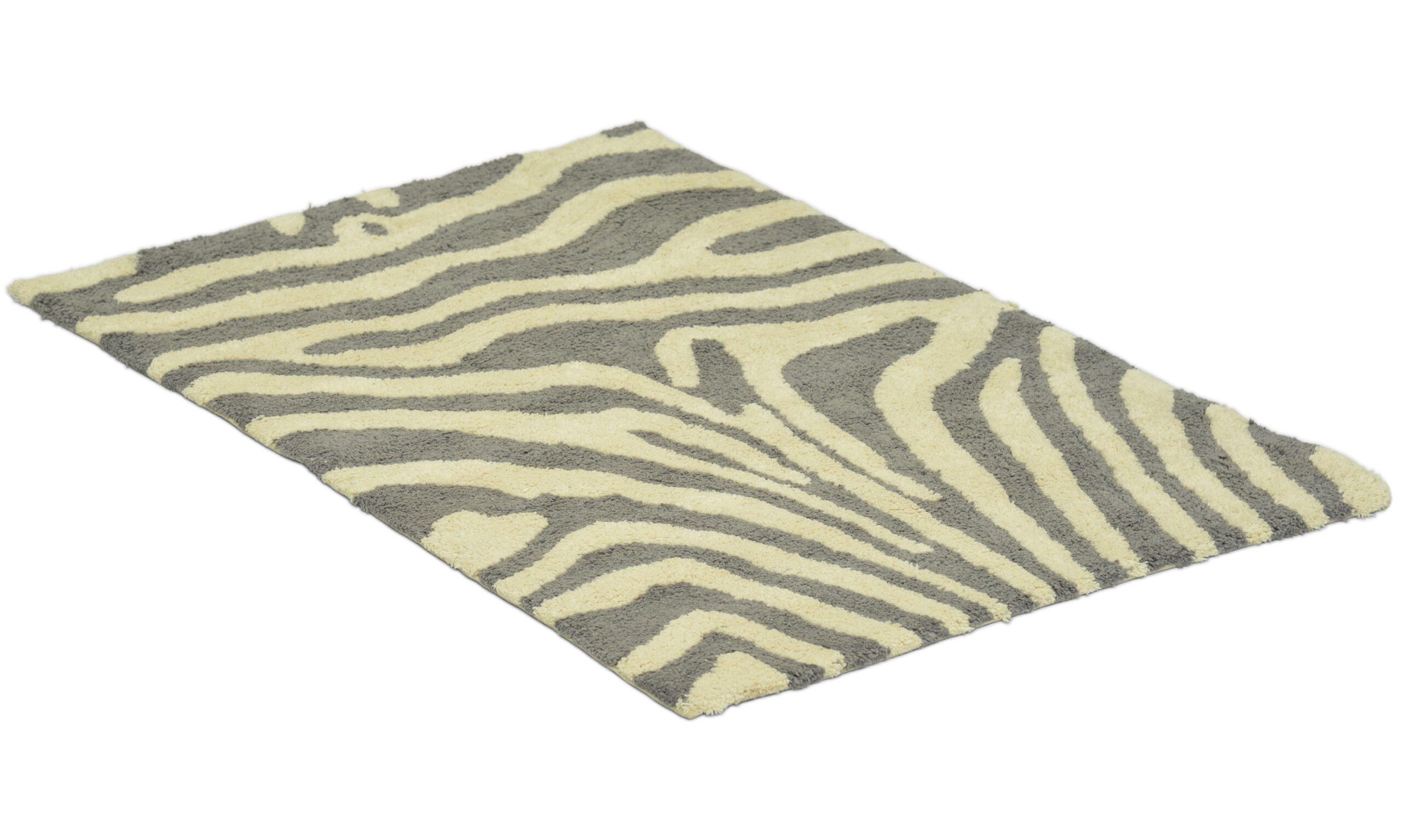 Zebra simply titan/hvit - baderomsmatte
