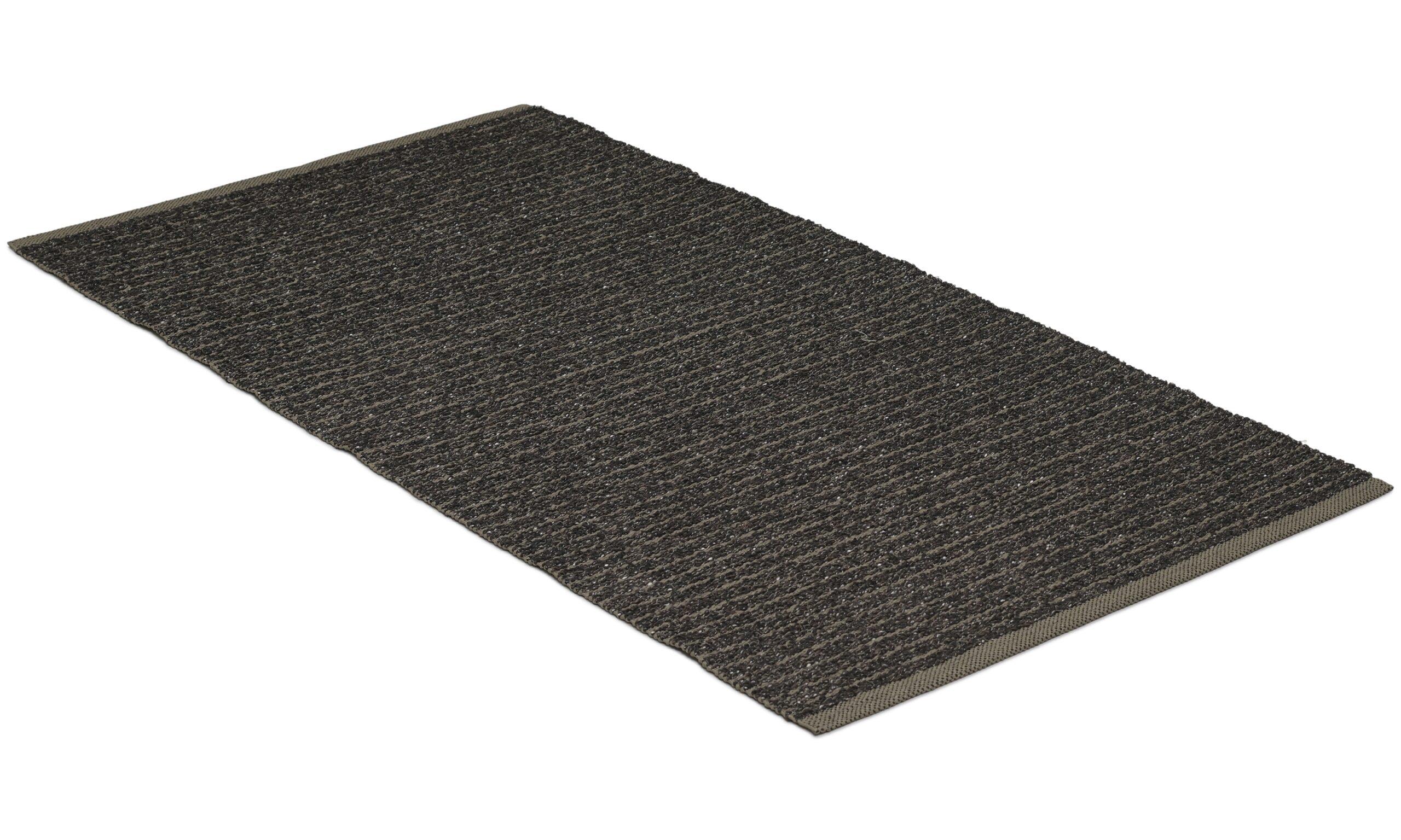 Marion svart - plast- og garnteppe