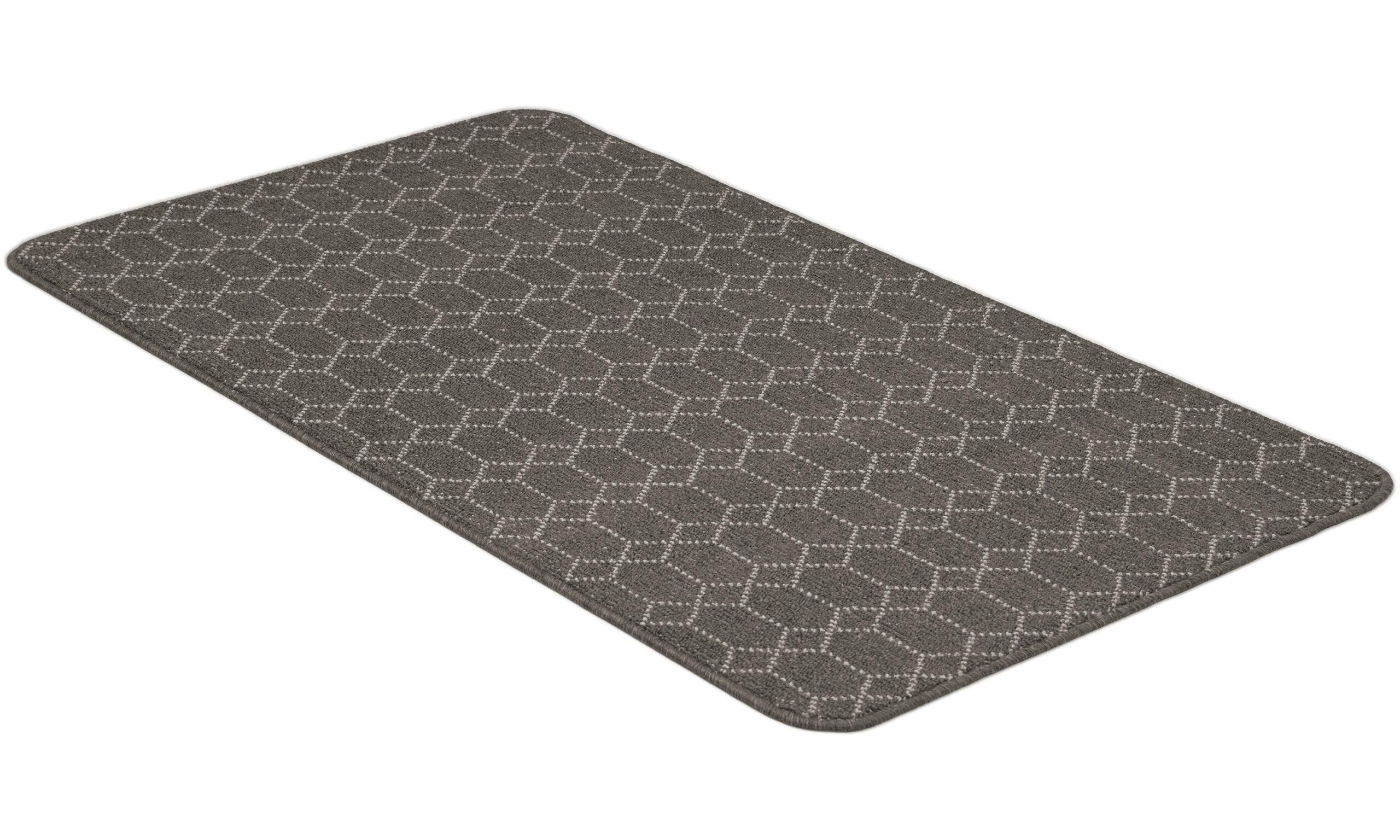 Naxos mørkegrå - teppe med gummibakside