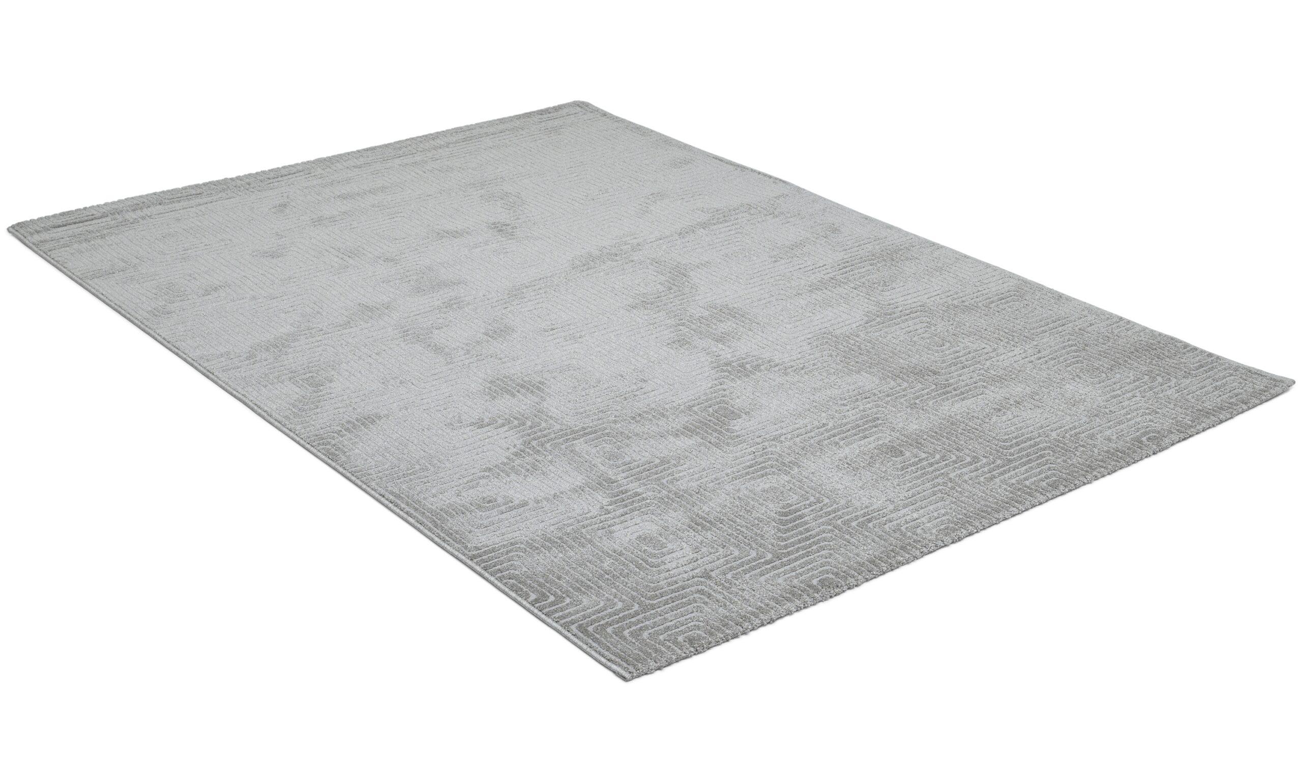 Fern lysegrå - maskinvevd teppe