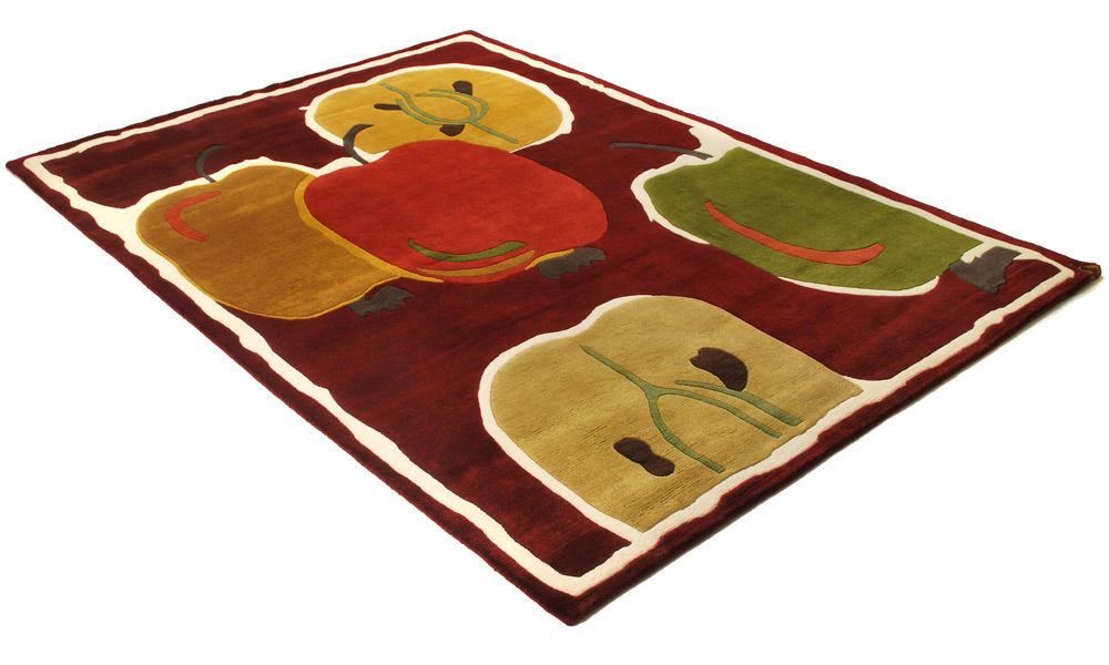 Åkerö rød - Håndknyttet teppe