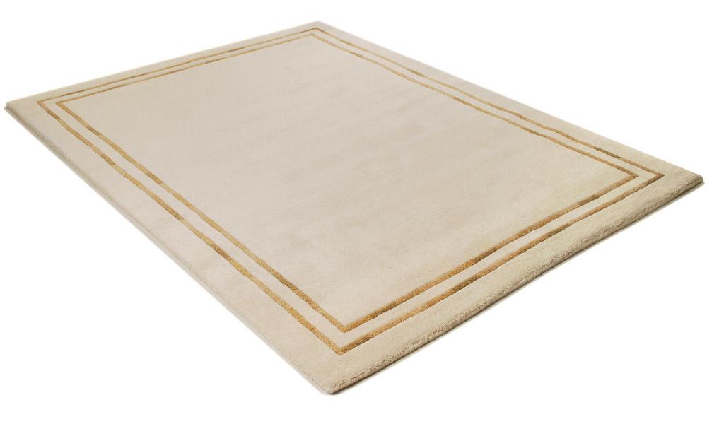 Lines hvit - håndknyttet teppe