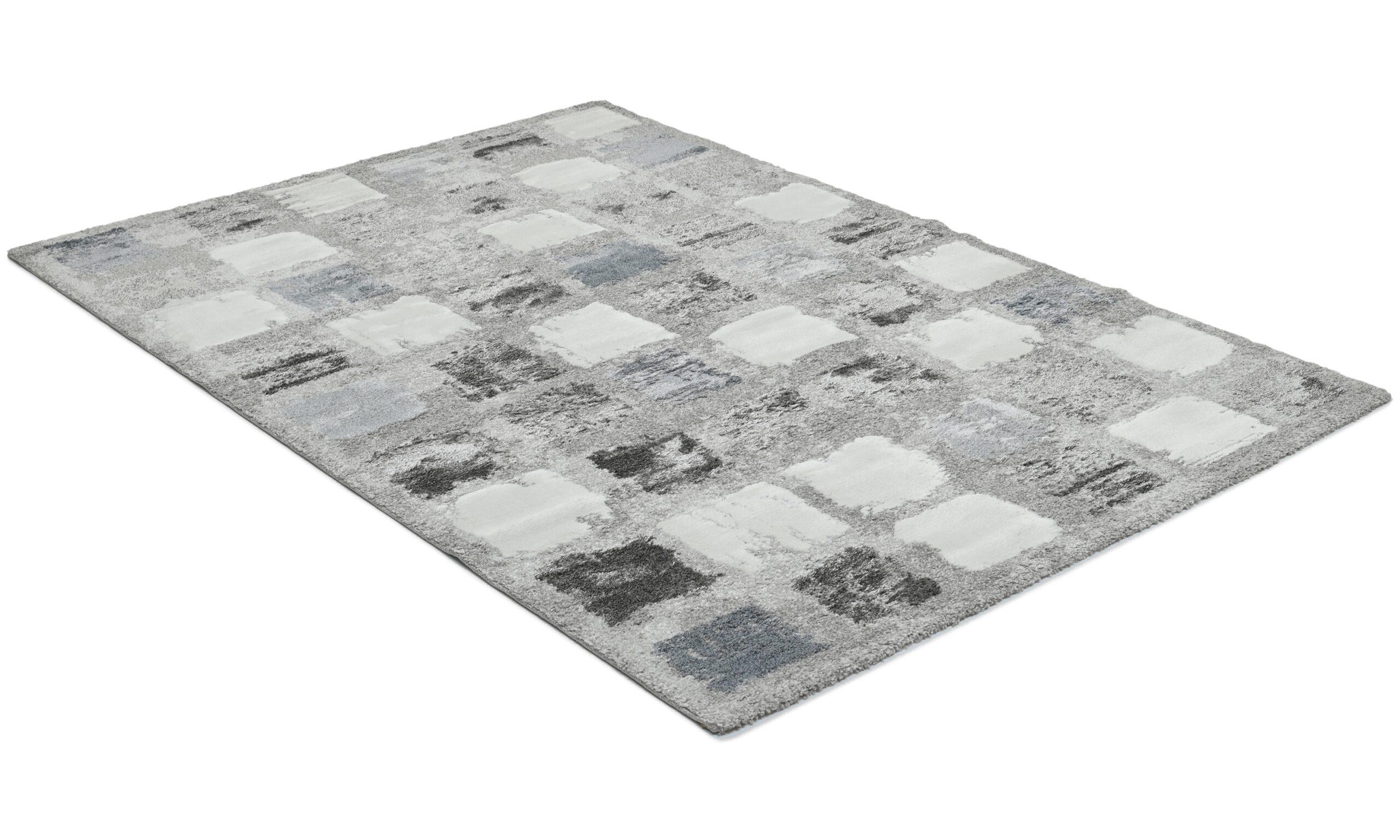 Century Square blå - maskinvevd teppe