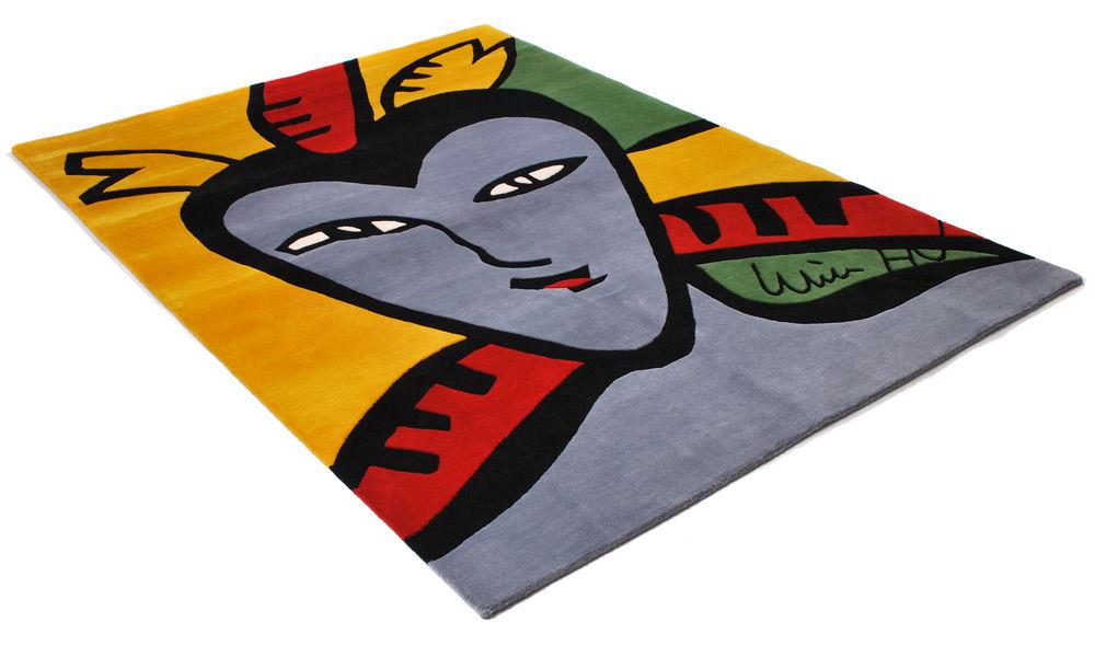 Face - håndknyttet teppe