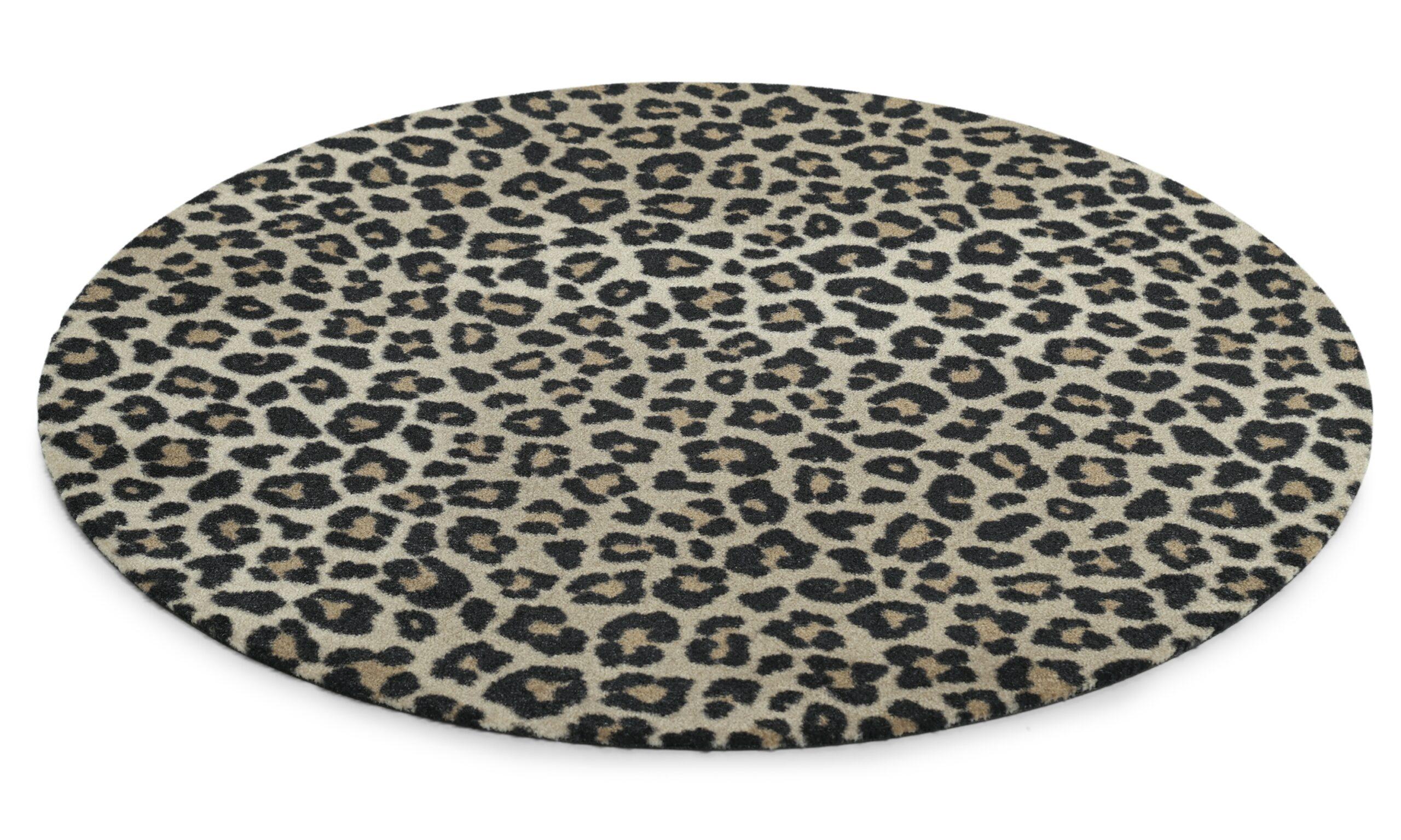Leopard rundt - multifunksjonsteppe