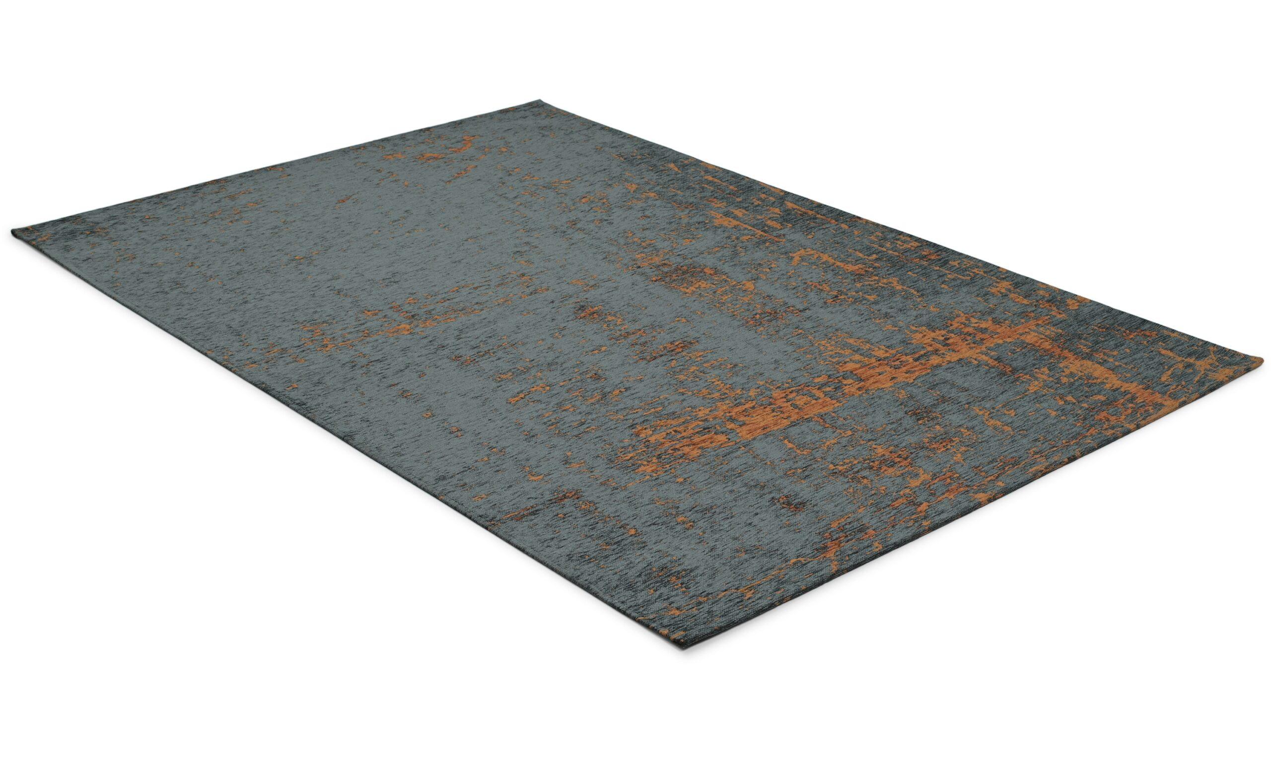 Baron svart/rust - maskinvevd teppe