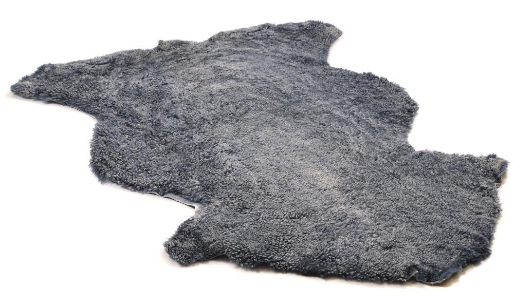 Krøllete saueskinn - sølvgrått