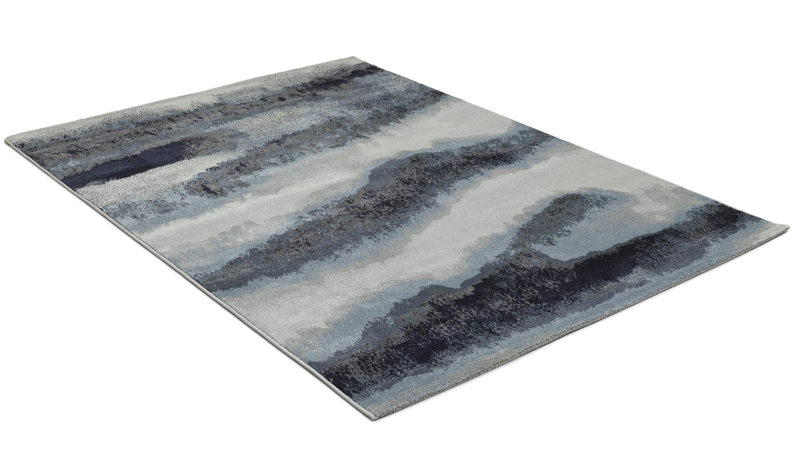 Sunset blå - maskinvevd teppe