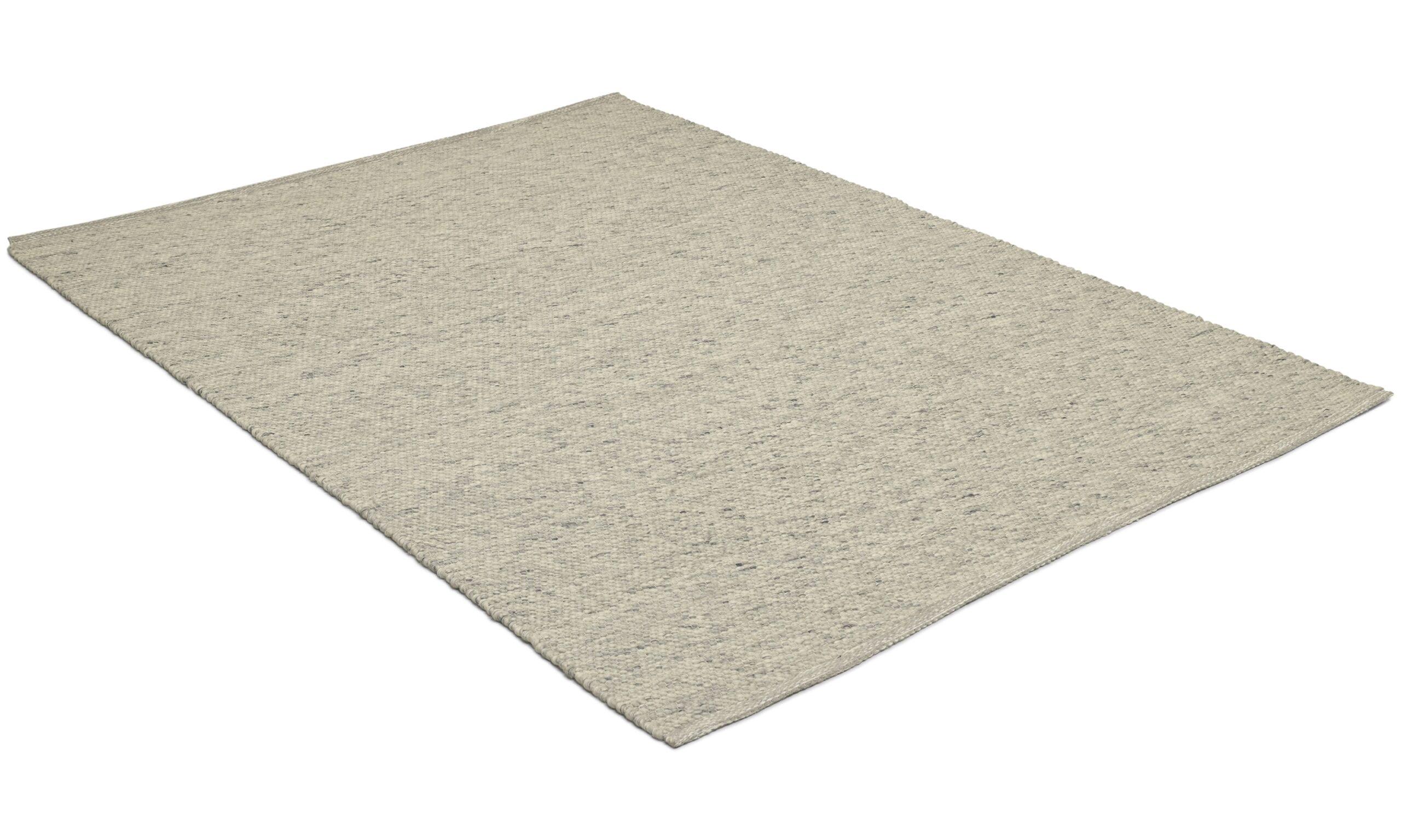 Kalix lys grå - håndvevd ullteppe
