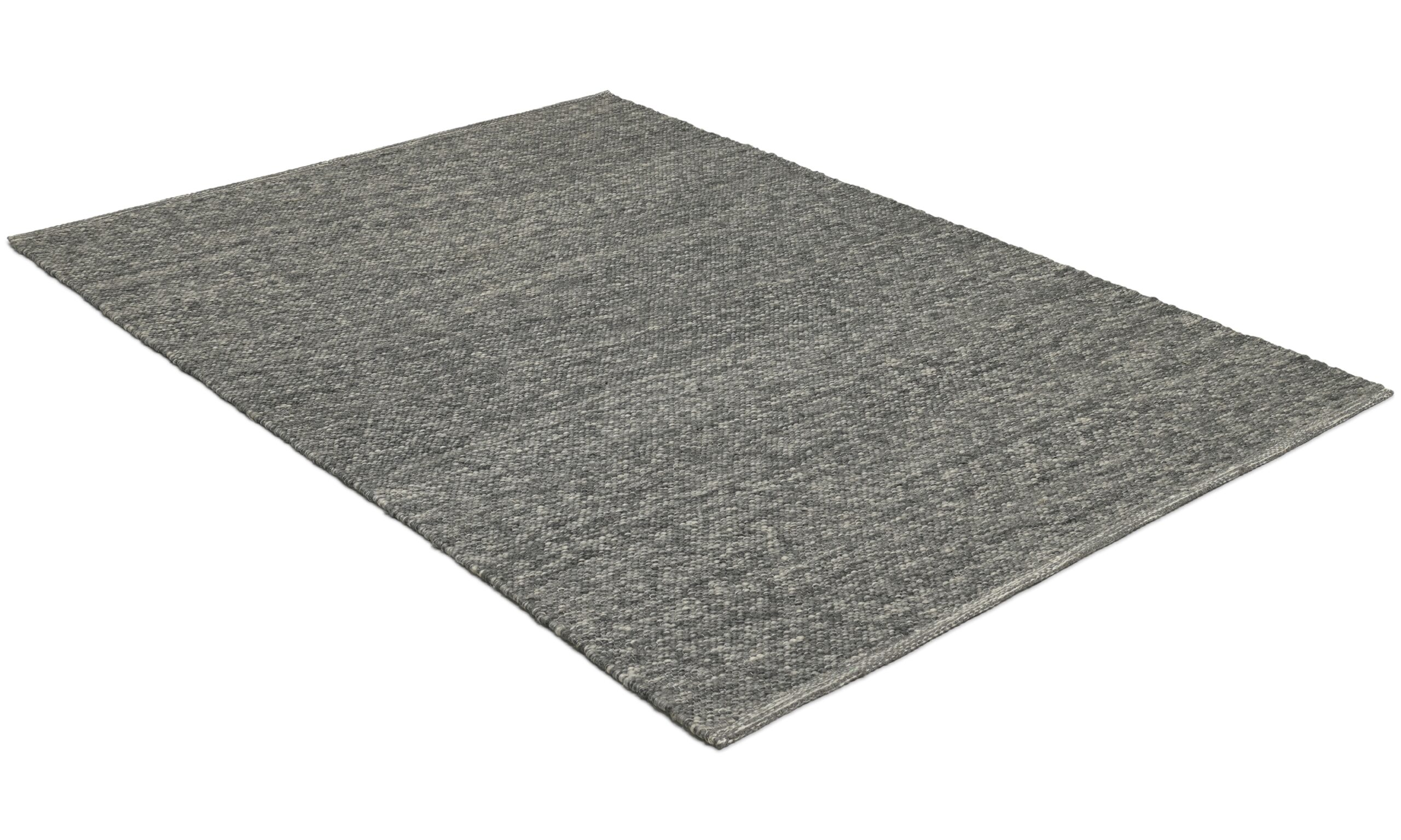 Kalix mørk grå - håndvevd ullteppe