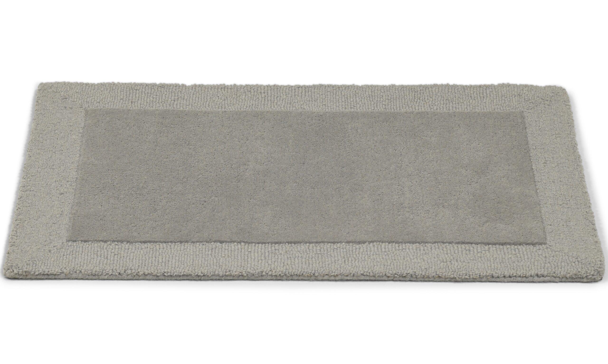 Plain lys grå - dørmatte