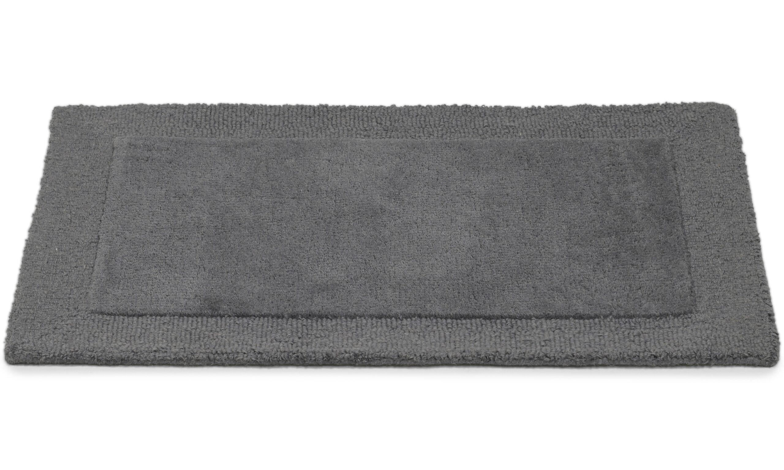 Plain mørk grå - dørmatte