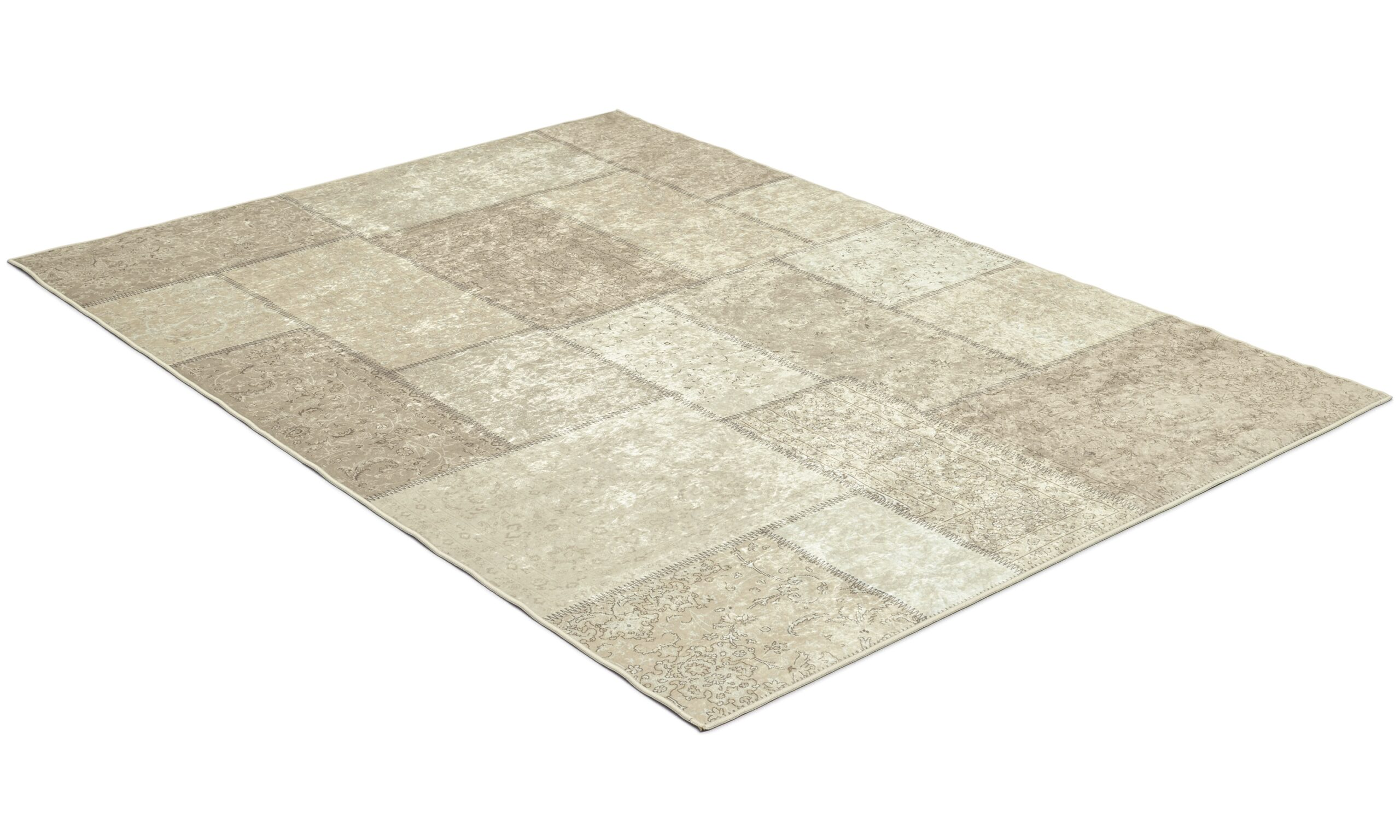 Patch beige - maskinlagd teppe