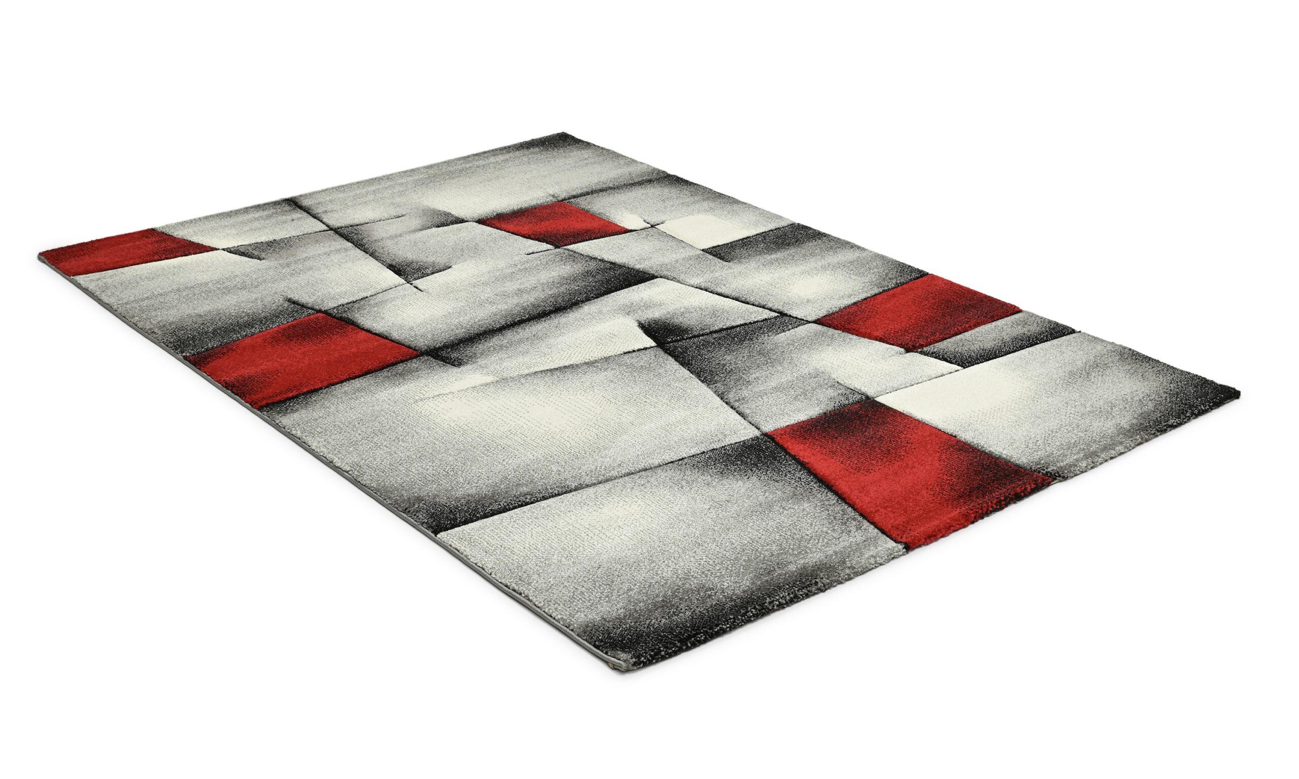 Lucara trend rød - maskinvevd teppe