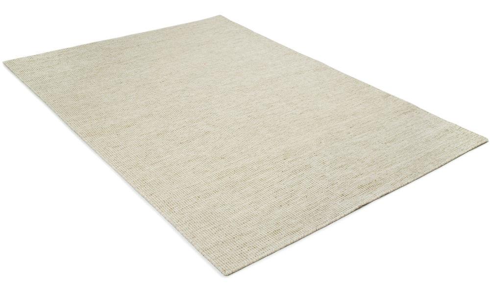 Afro hvit - håndvevd ullteppe