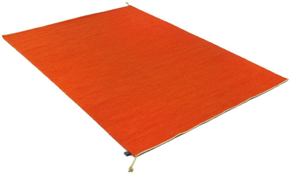 Sofiero orange - håndvevd ullteppe