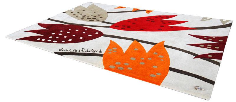 Loupelou rød - håndlaget teppe