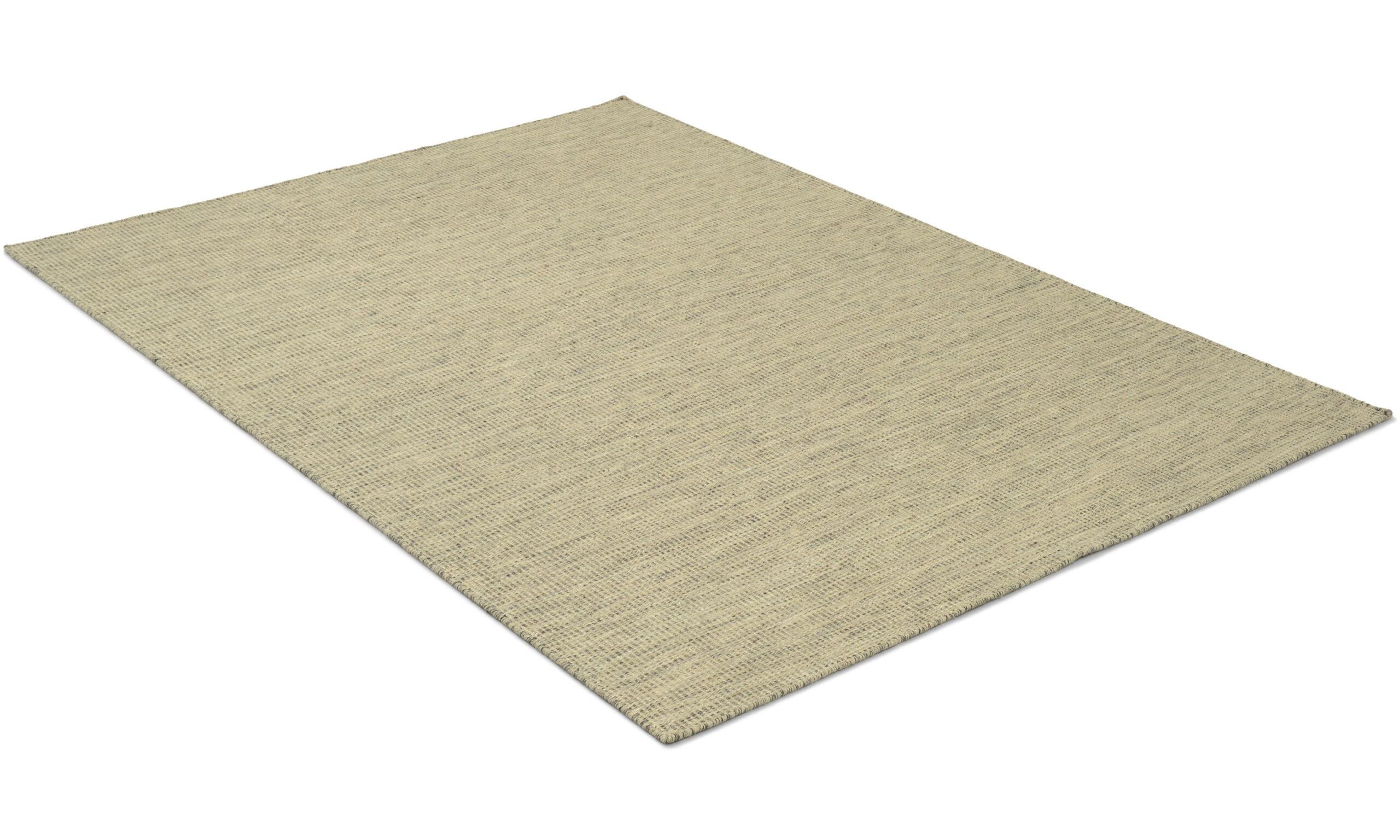 Afro lys gråblå - håndvevd ullteppe