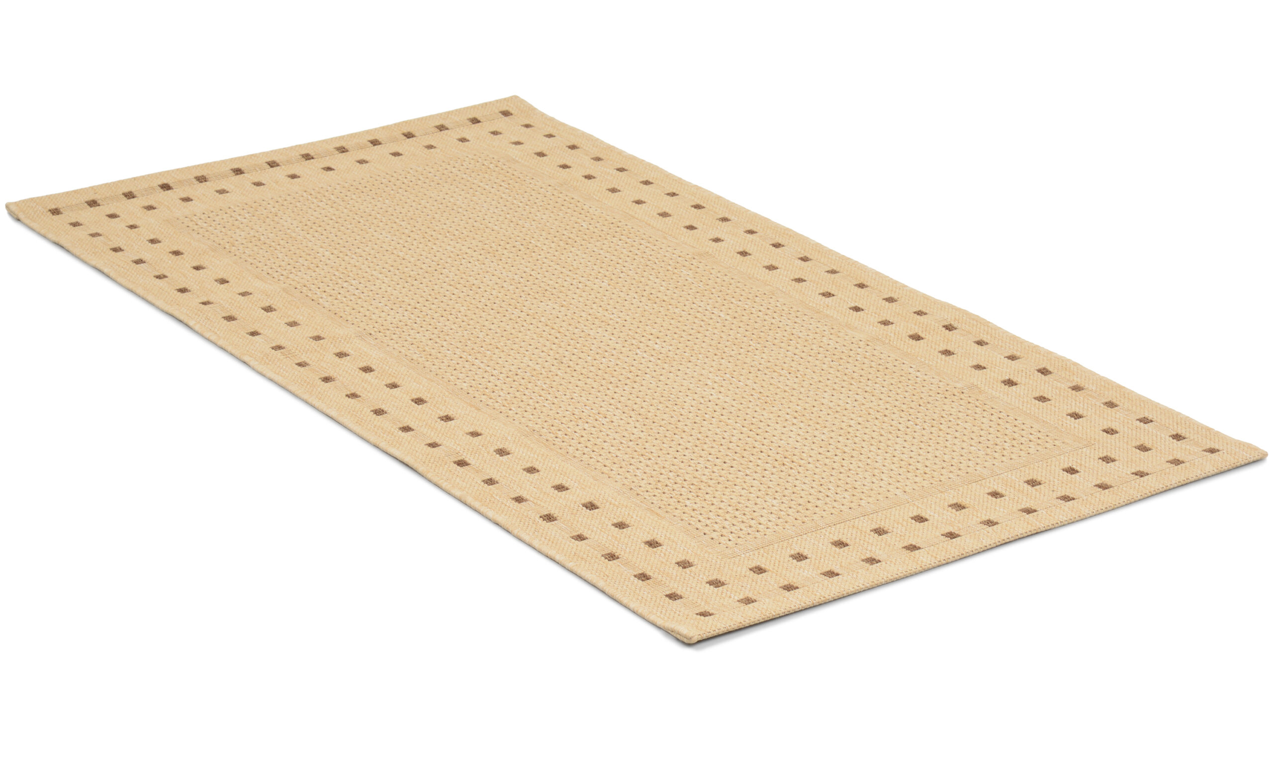 Rut beige - flatvevd teppe