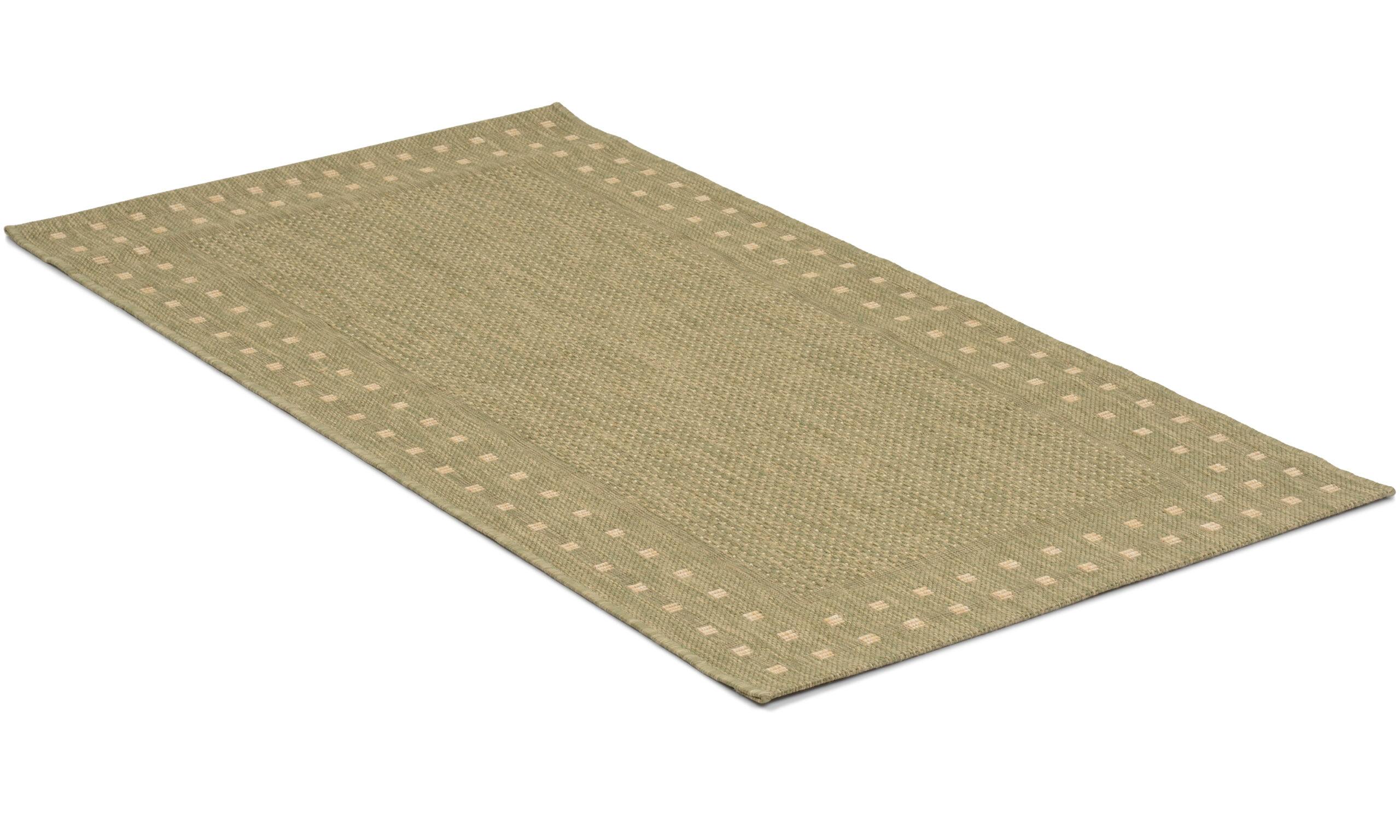 Rut grønn - flatvevd teppe
