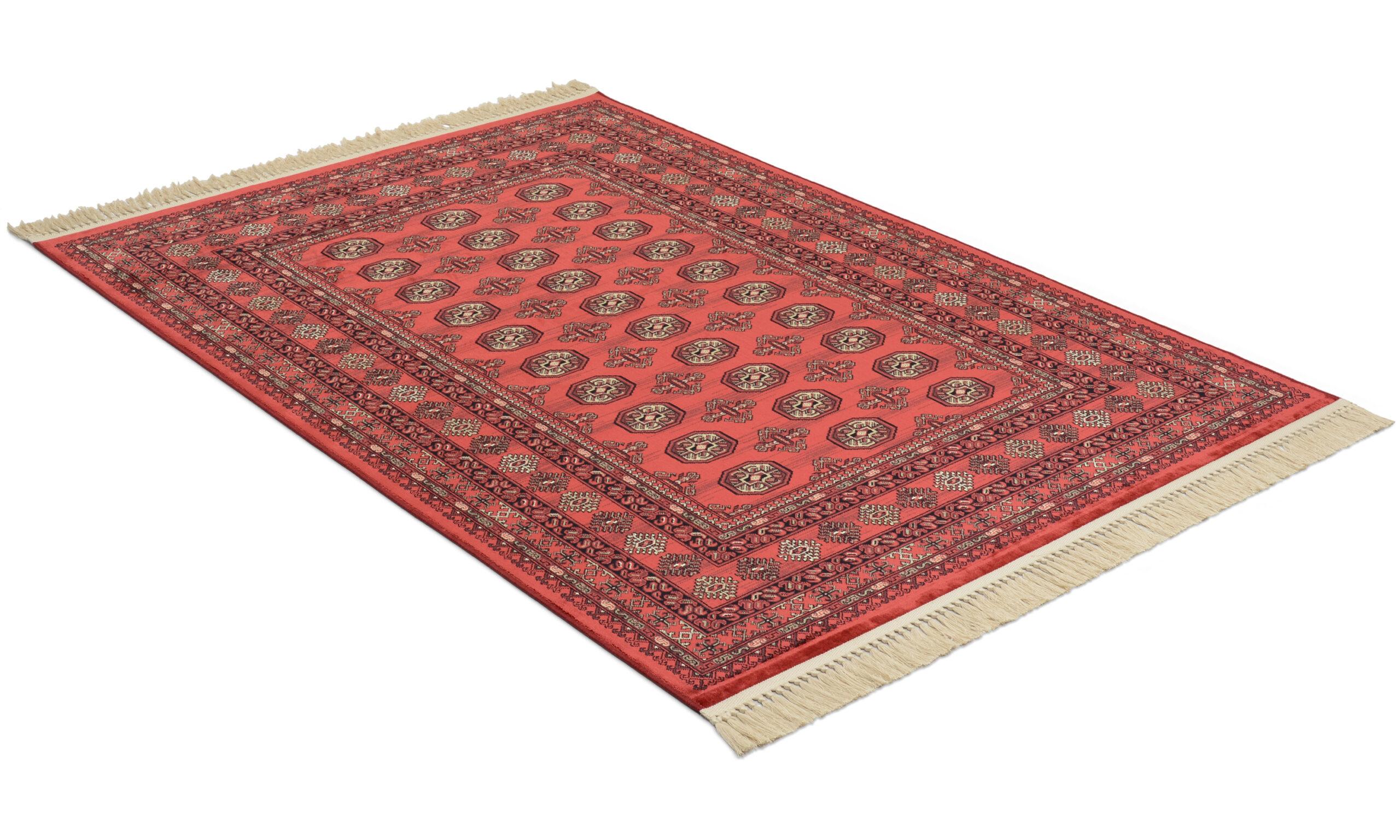 Eufrat rød - kunstsilketeppe