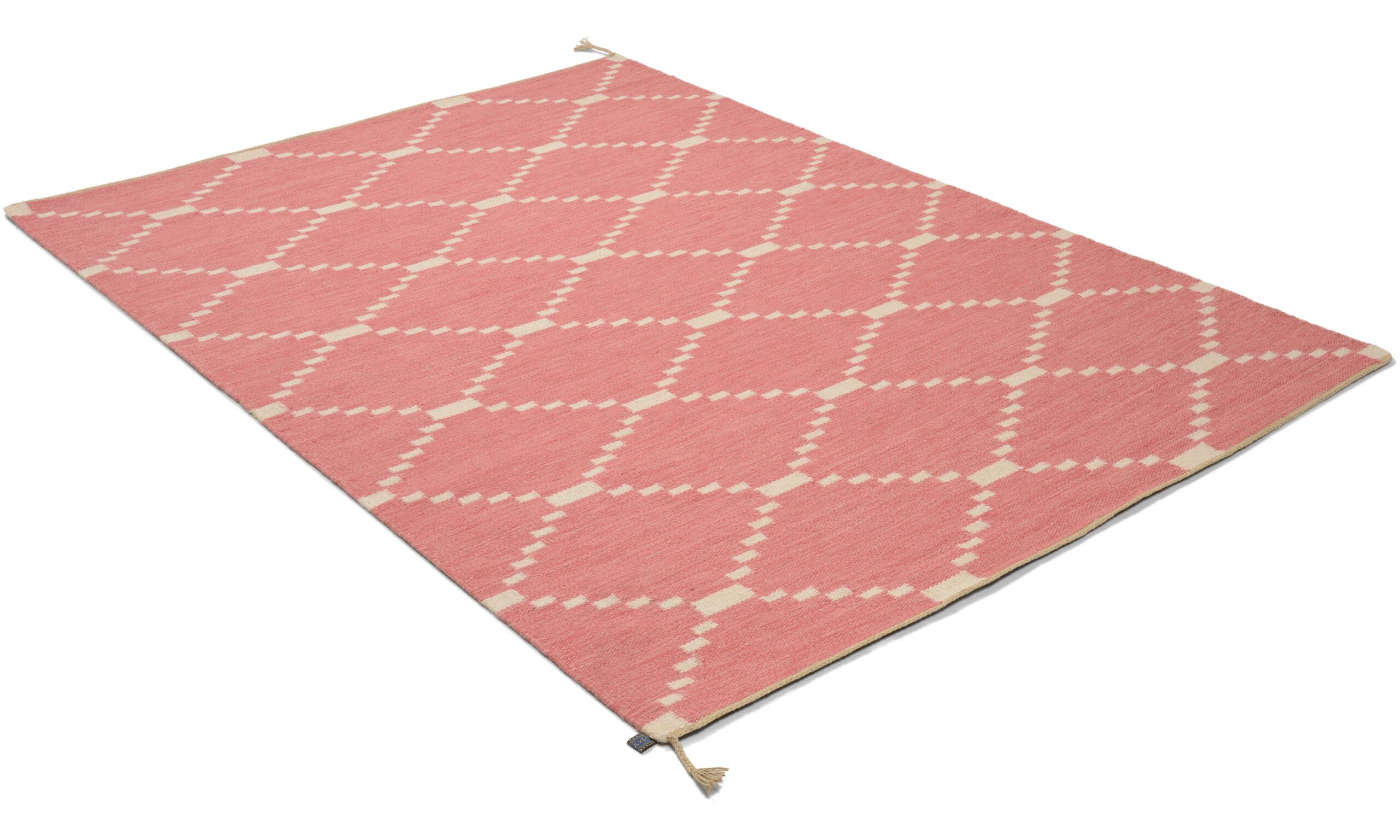 Östanå rosa - håndvevd ullteppe