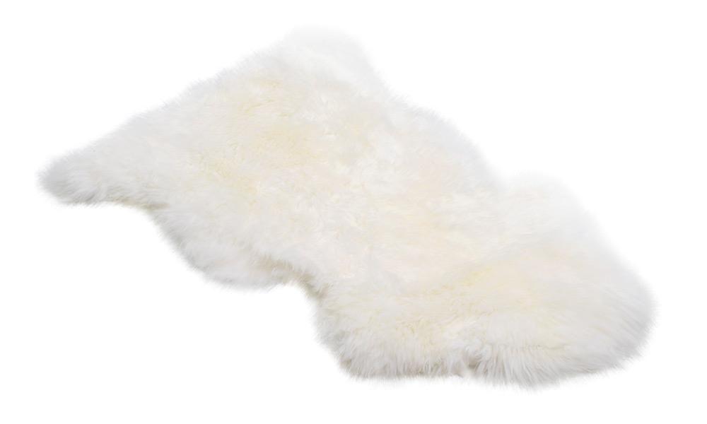 Langhåret saueskinn - hvitt