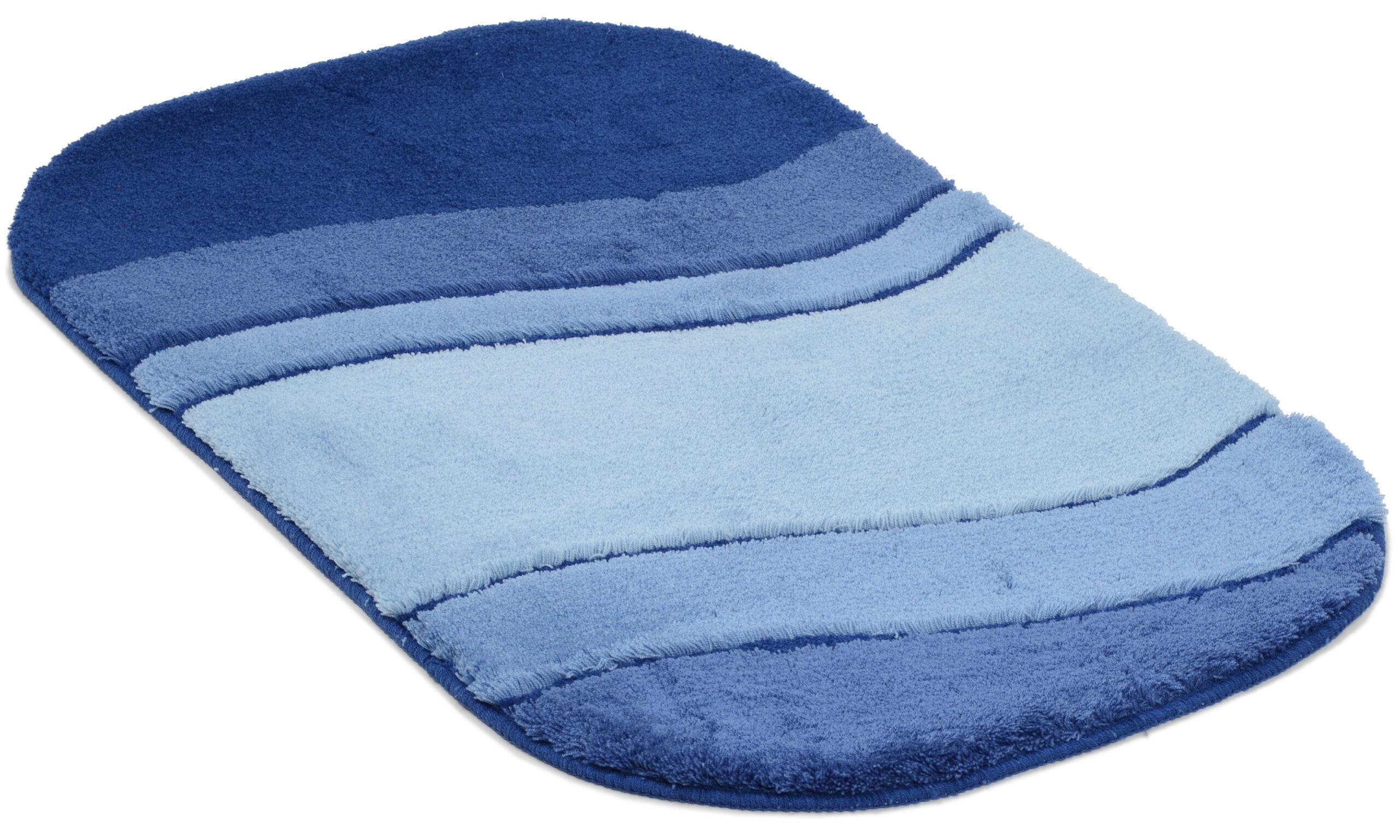 Siesta blå - baderomsteppe