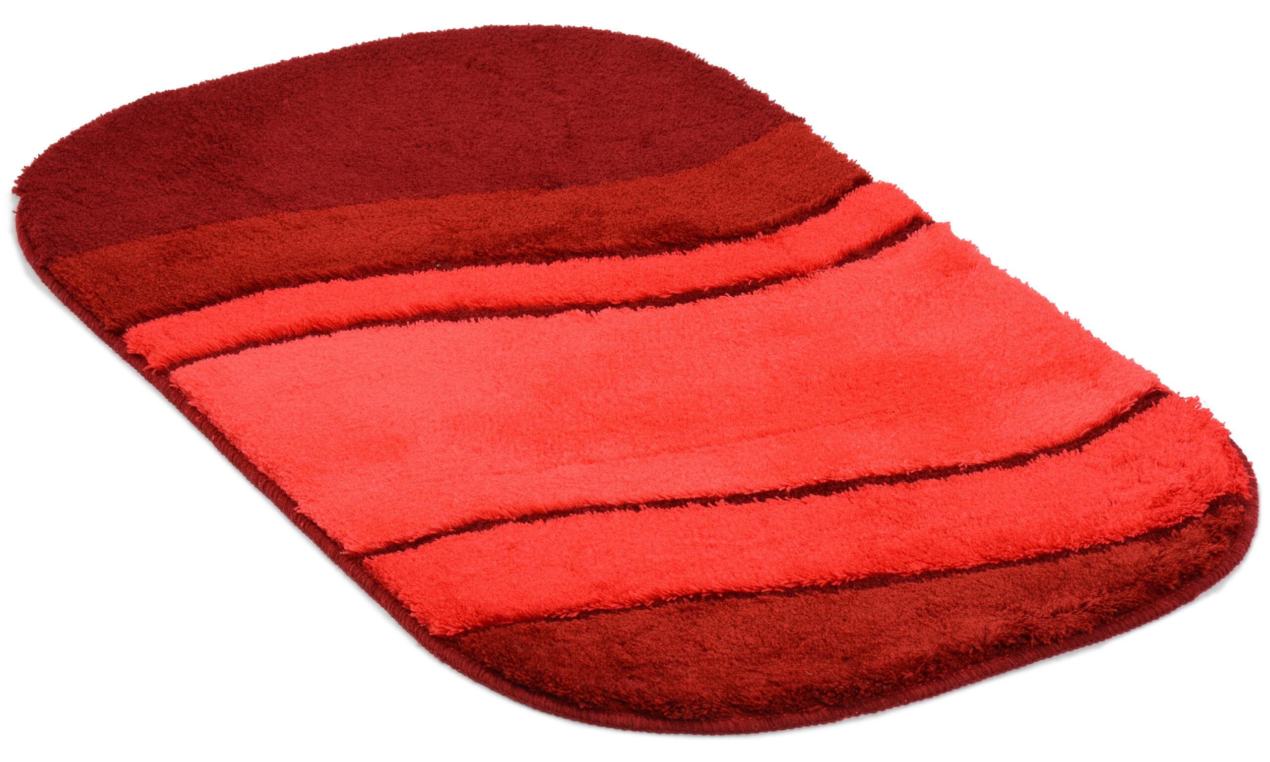 Siesta rød - baderomsteppe