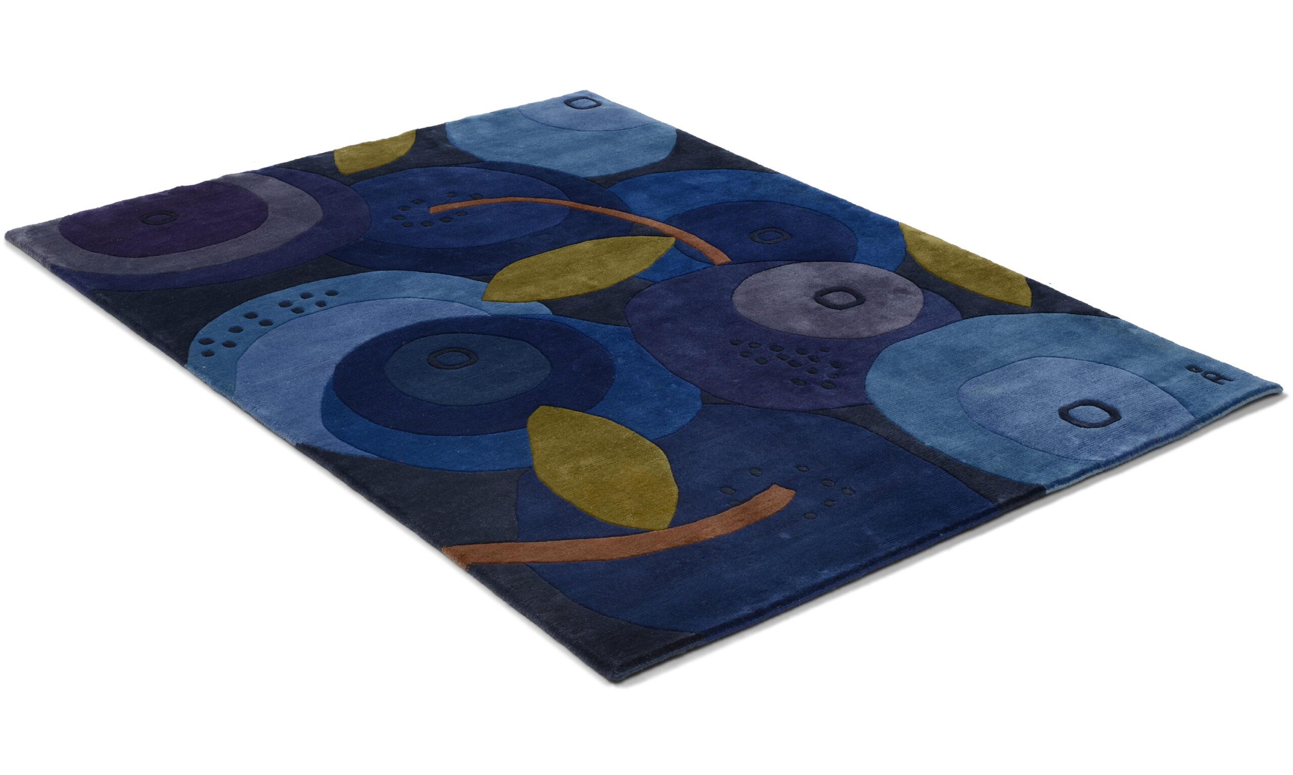 Blåbär - håndknyttet teppe