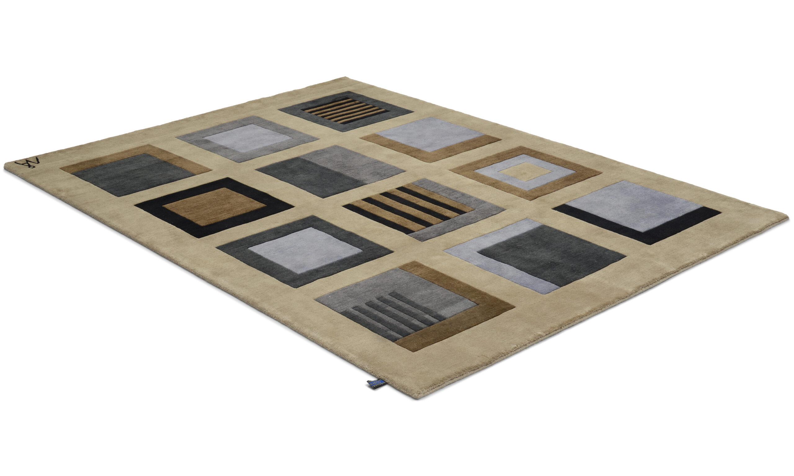 Sandö grønn - håndknyttet teppe