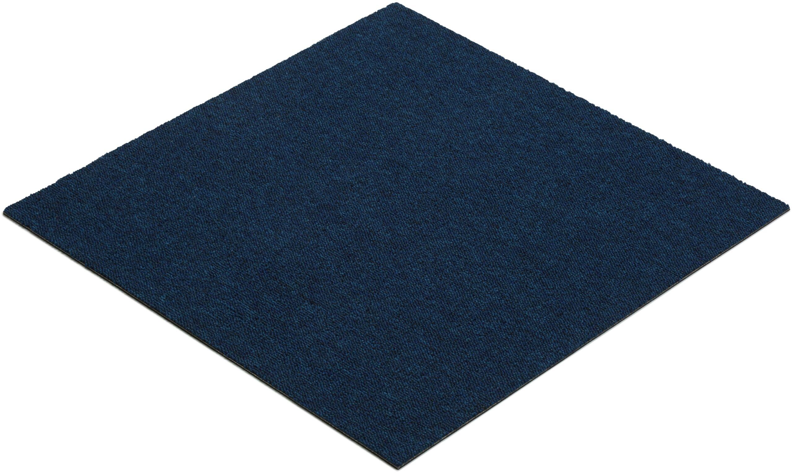 Quebec mørkeblå - teppeflis
