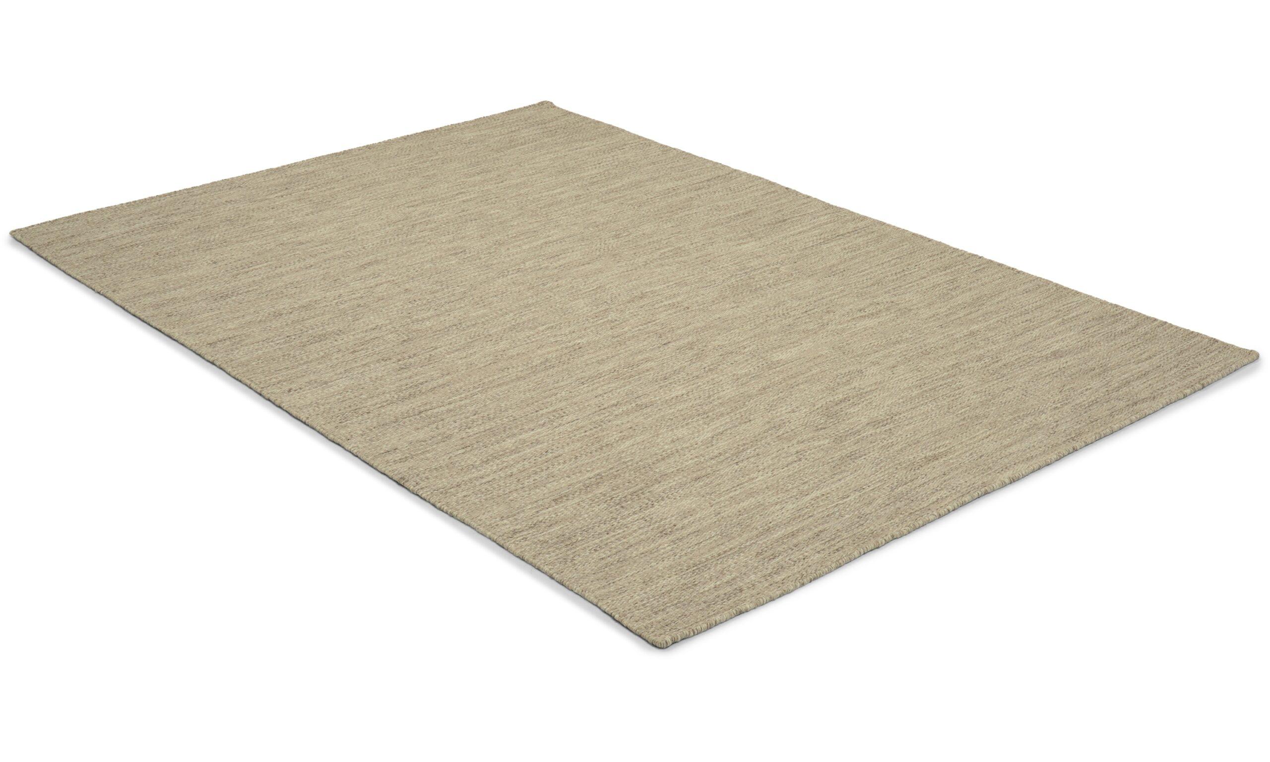 Eden grå - håndvevd ullteppe